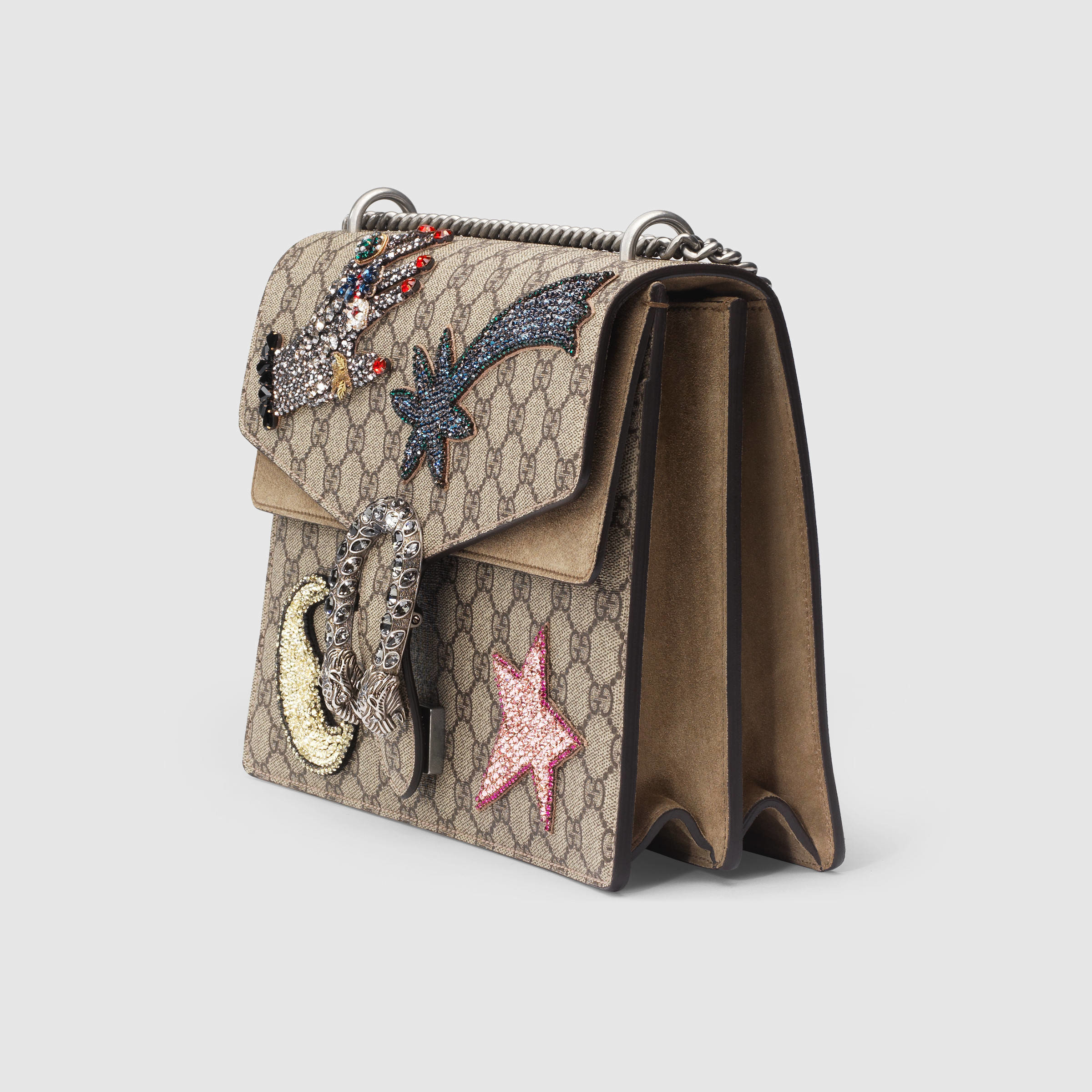Lyst Gucci Dionysus Embroidered Gg Supreme Canvas