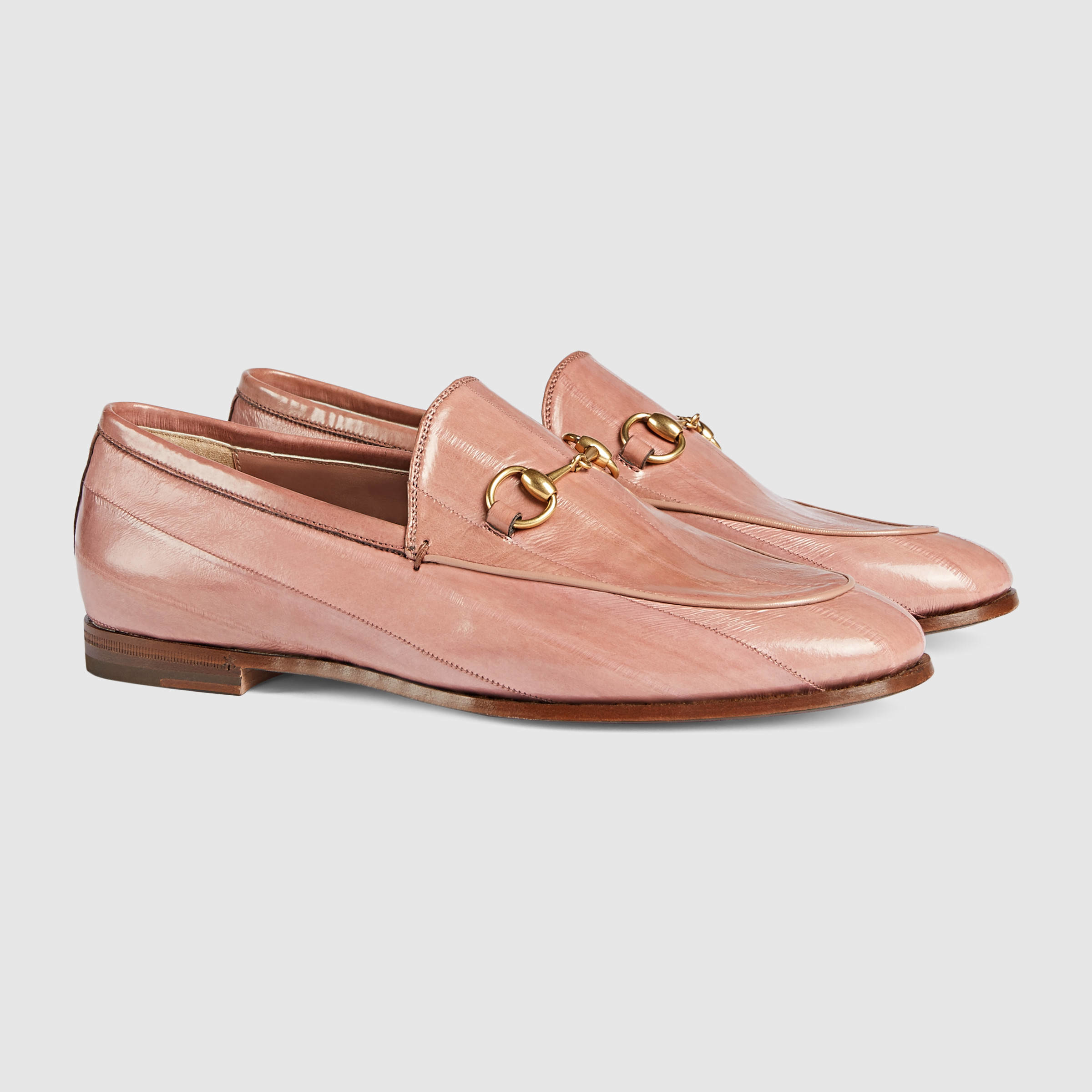 de666b2d6aa Gucci Jordaan Eel Horsebit Loafer in Natural - Lyst