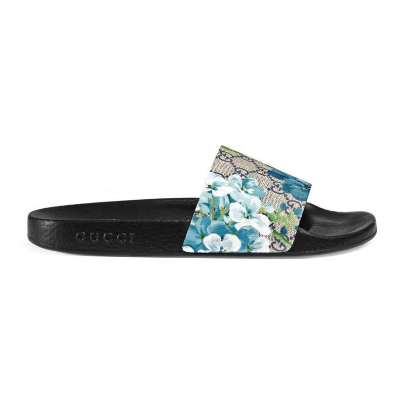 54a73acbd36 Gucci Gg Blooms Sandal in Blue for Men