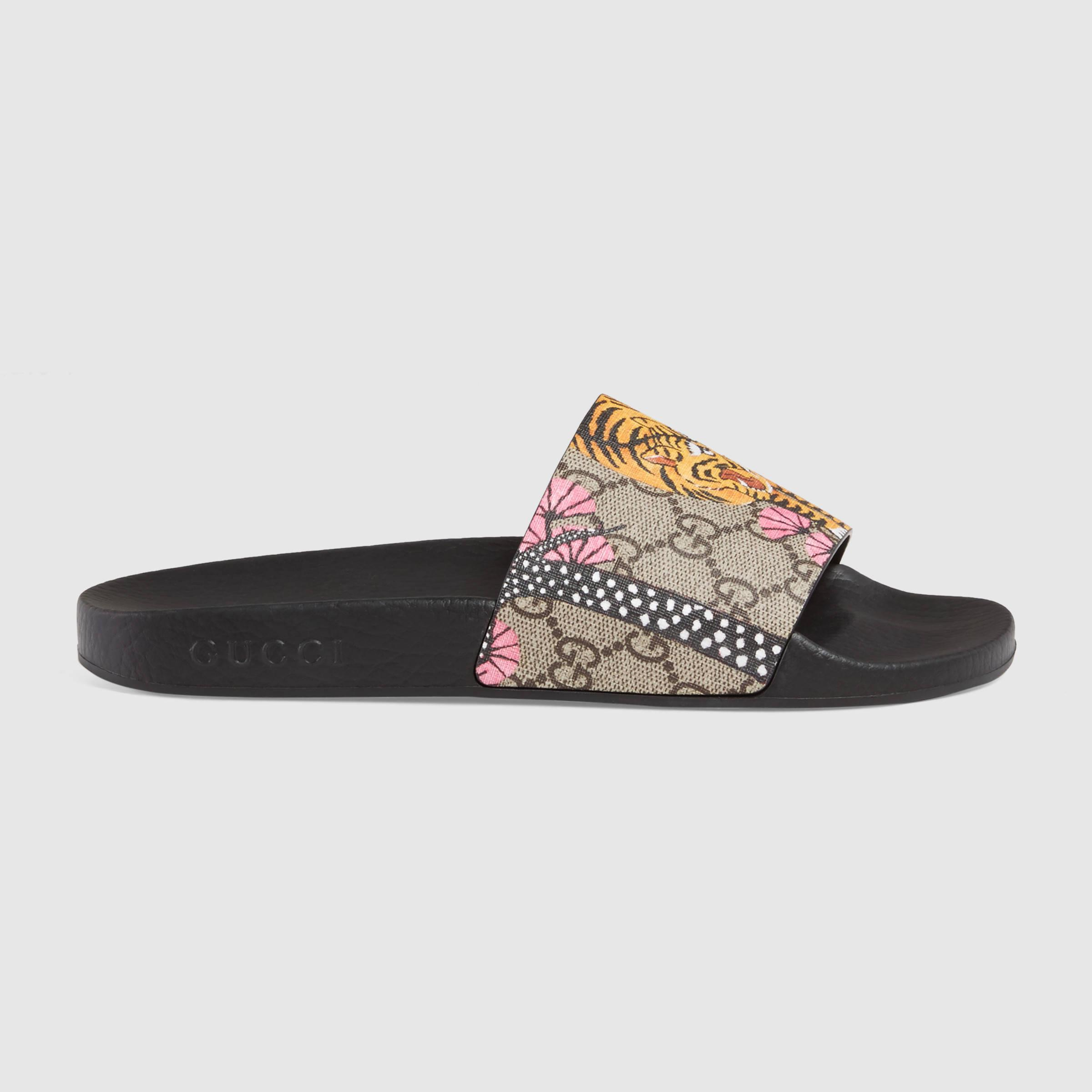 f1b33e23c Gucci Pursuit Bengal Slide Sandal - Lyst