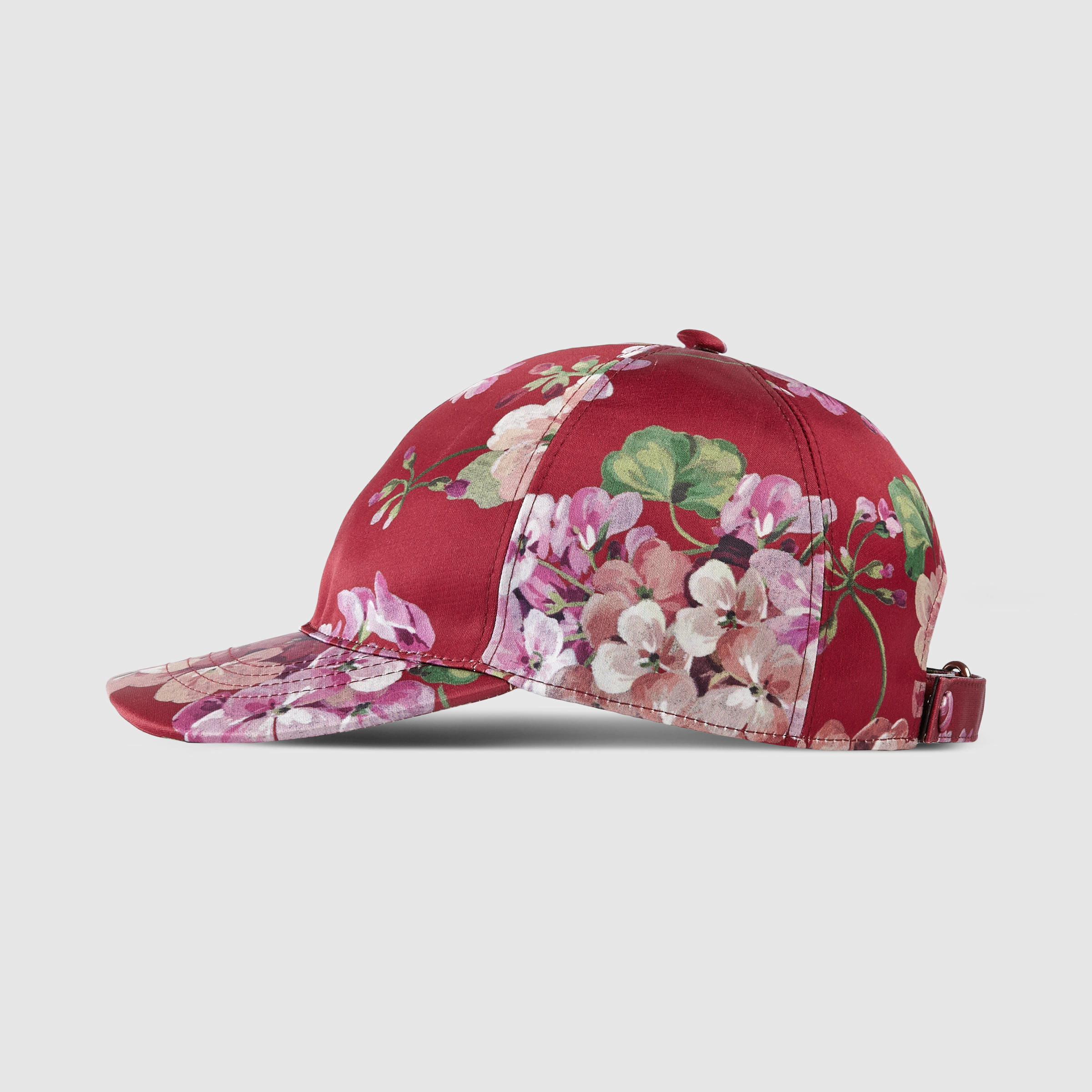 82a10e7bcea Lyst - Gucci Blooms Silk Baseball Hat in Red for Men