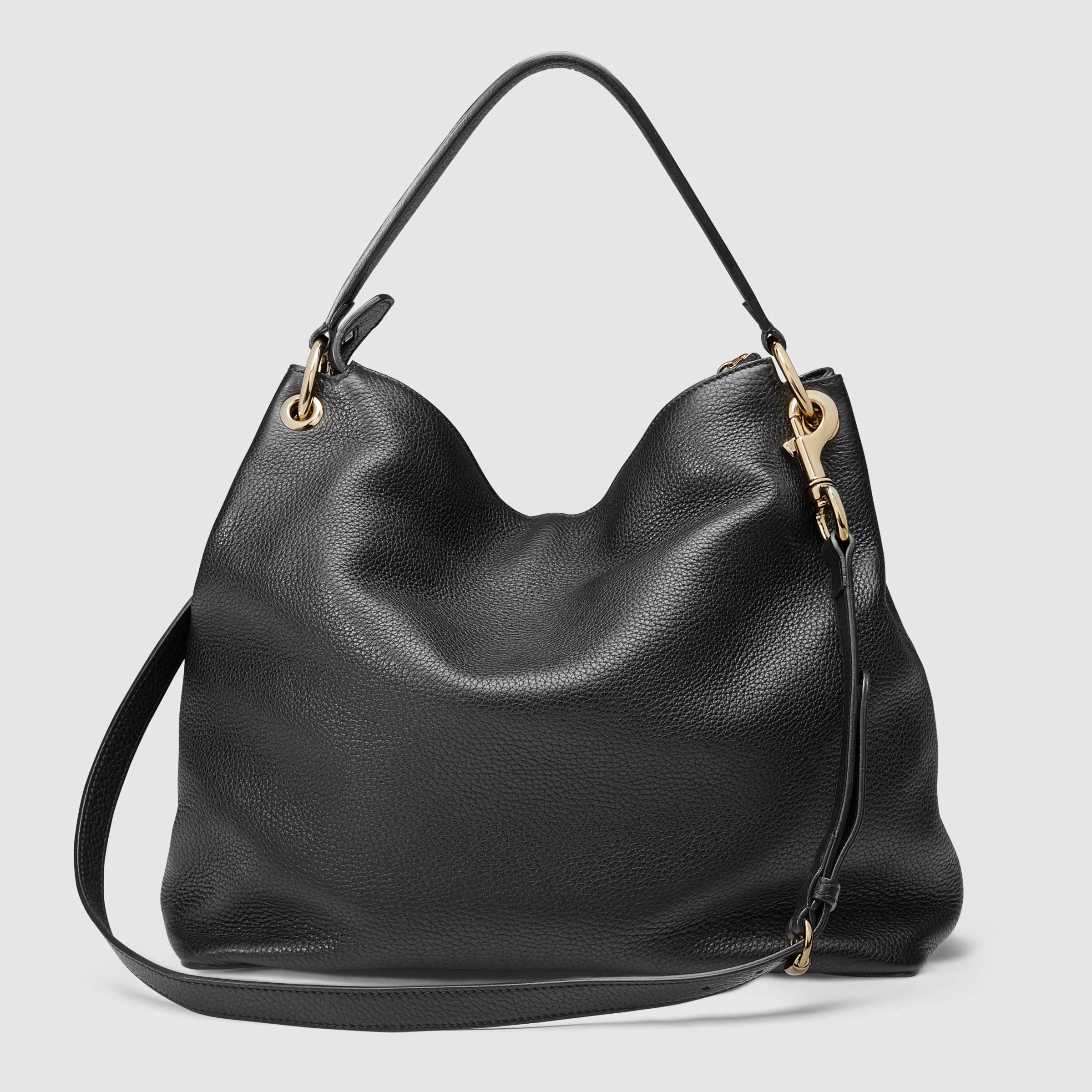 Gucci Soho Leather Hobo in Black