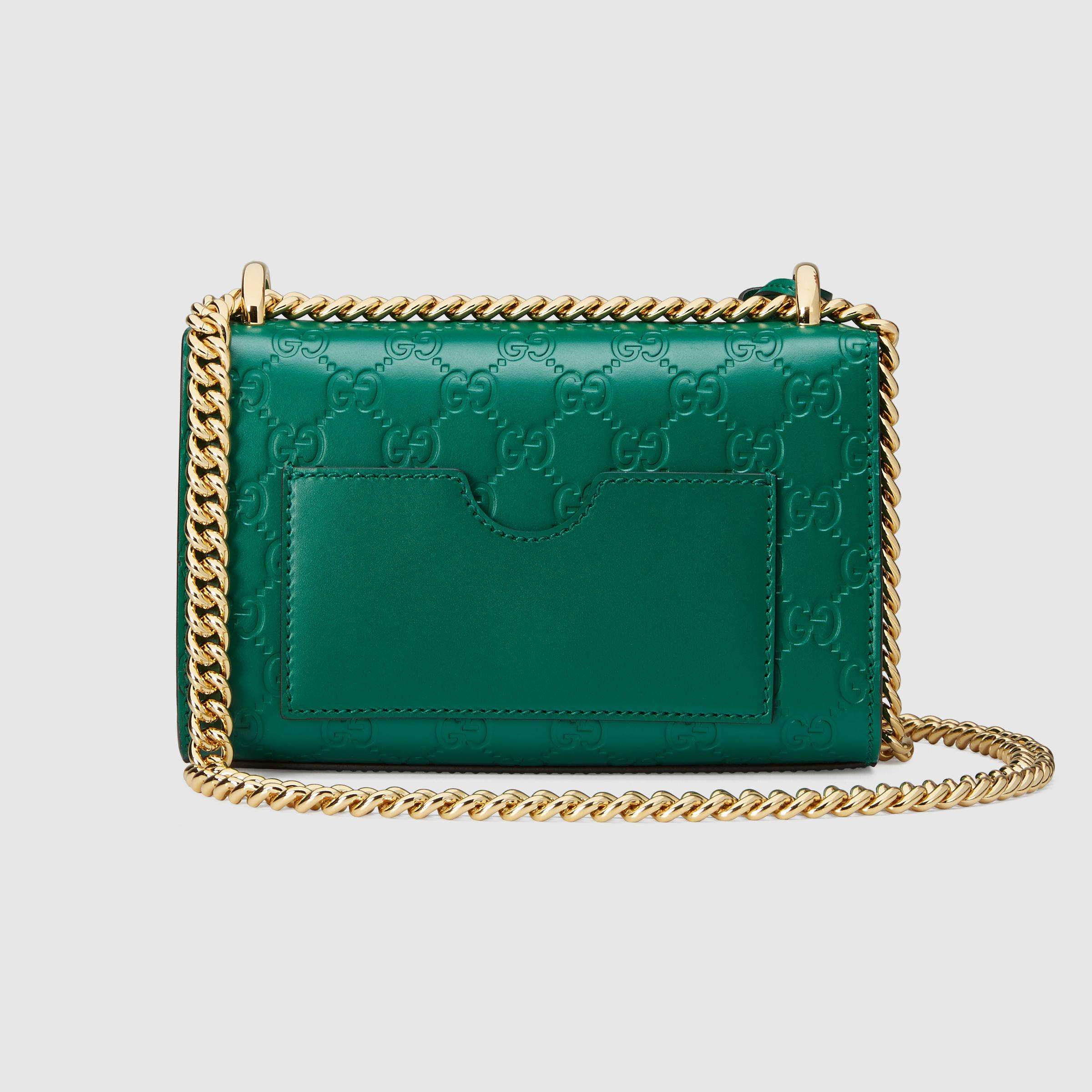Lyst - Gucci Padlock Signature Shoulder Bag in Green 285d28c86eea1