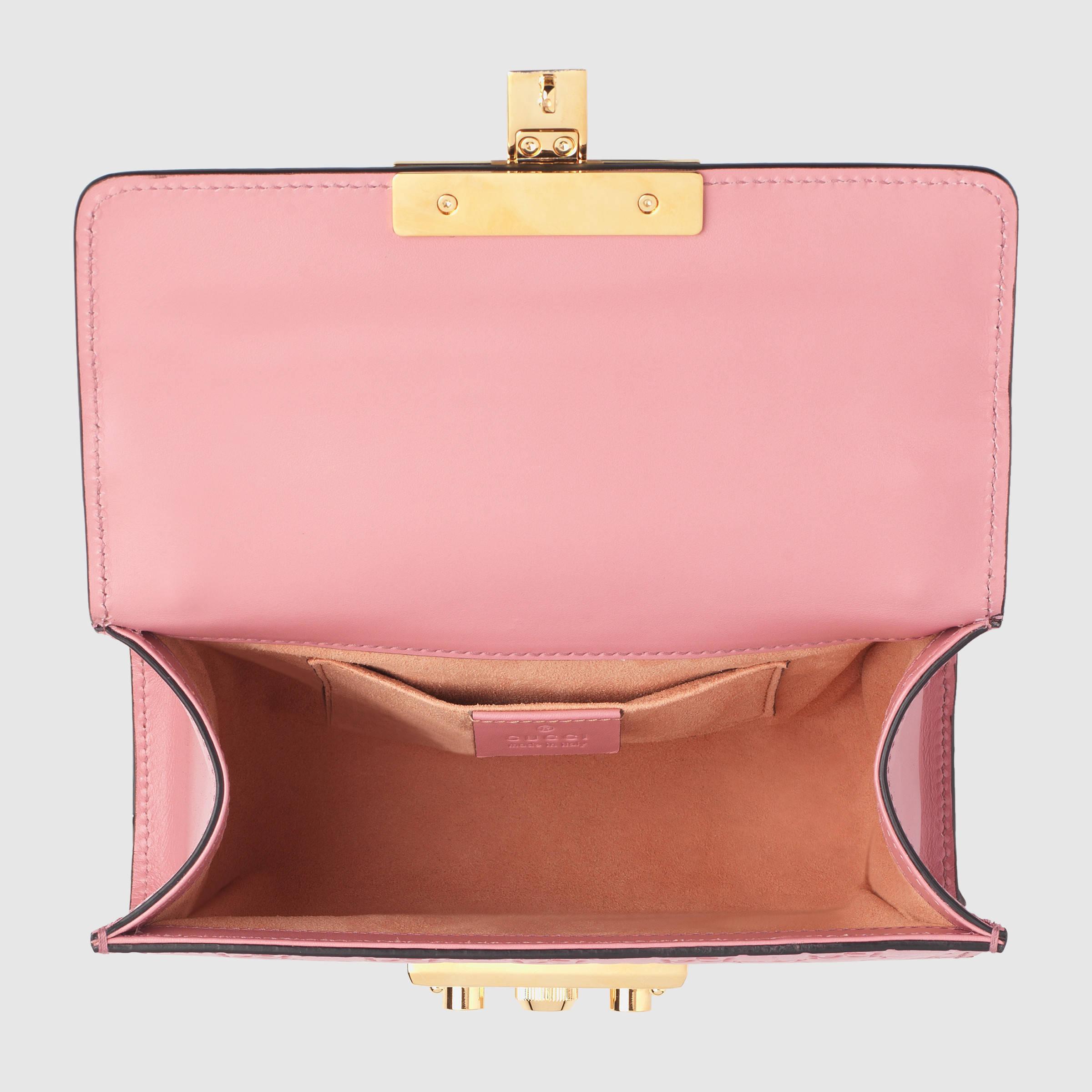 e3bc6b192b1b Lyst - Gucci Padlock Signature Leather Shoulder Bag