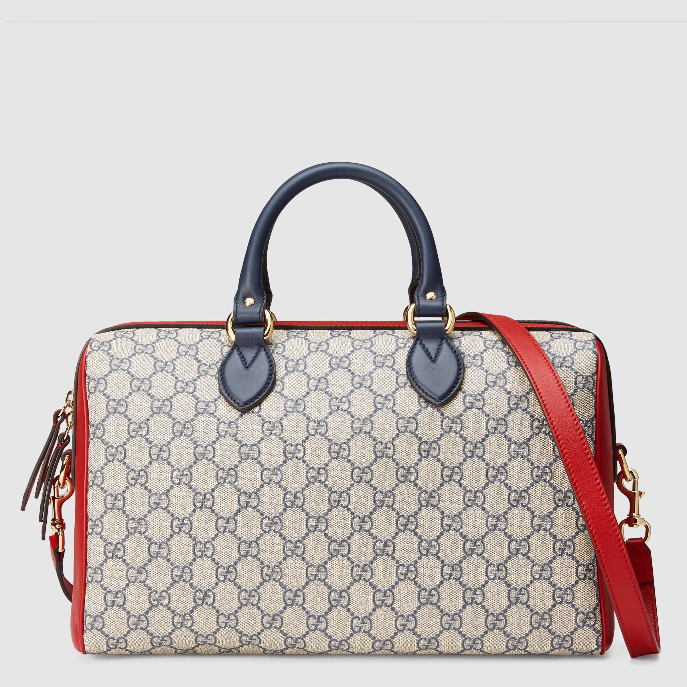 09737b5f949 Lyst - Gucci GG Supreme Canvas And Leather Top-Handle Bag