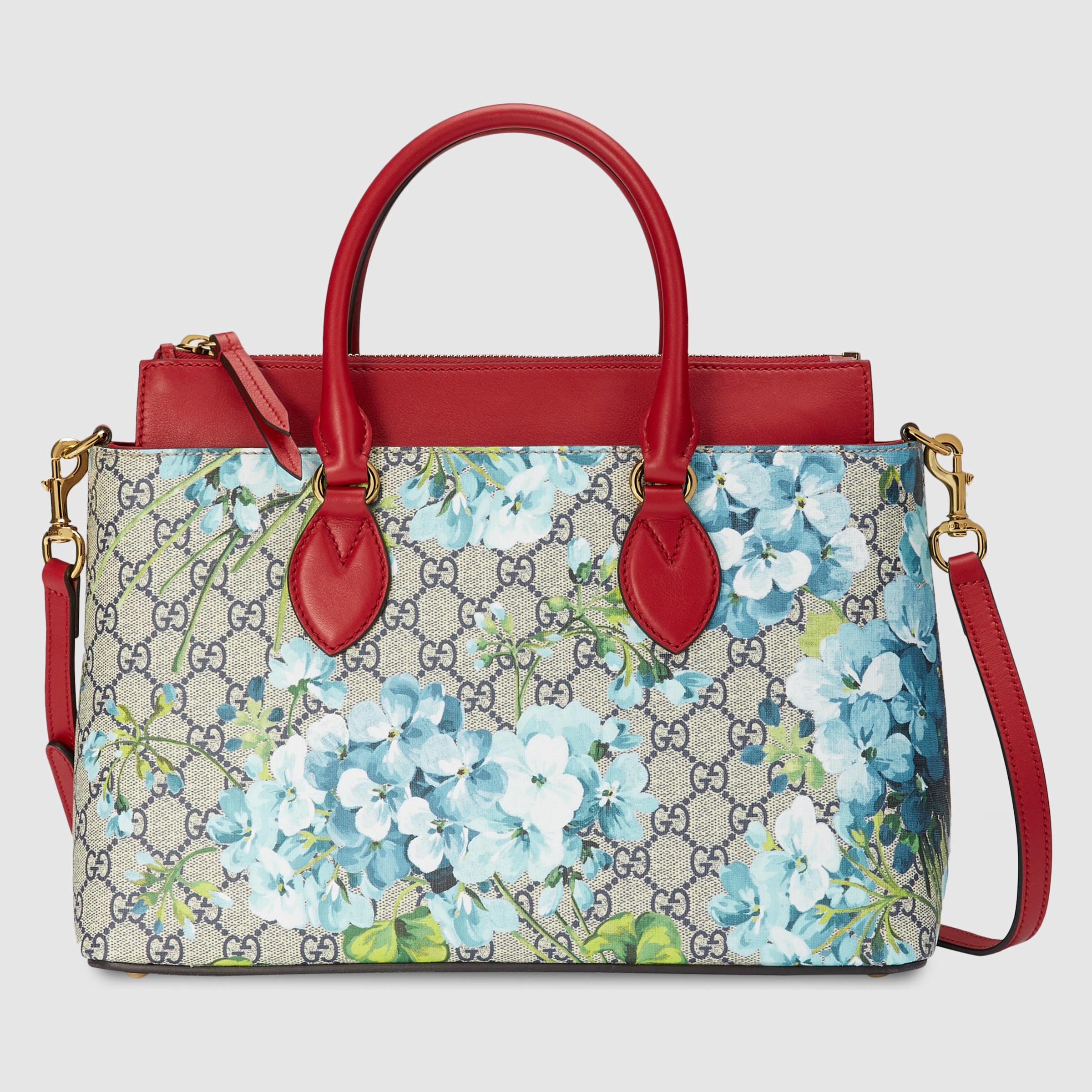 b3752dbffe2 Lyst - Gucci Gg Blooms Tote in Blue