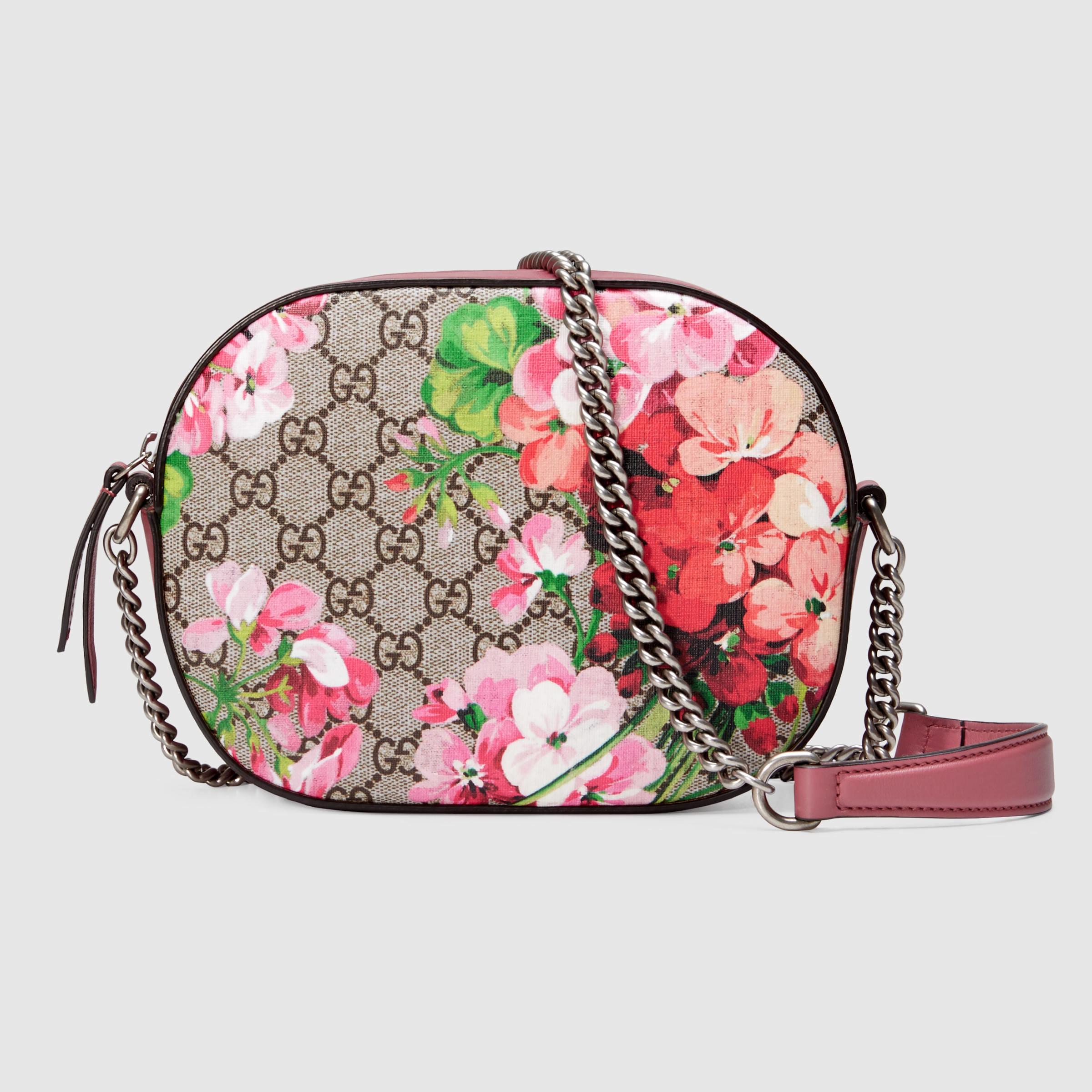 087d9c5e1b3 Lyst - Gucci Blooms GG Supreme Mini Chain Shoulder Bag