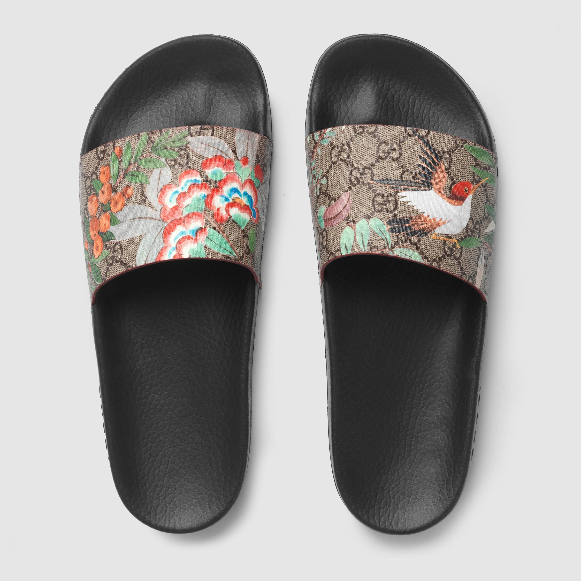 Lyst Gucci Tian Printed Slides For Men