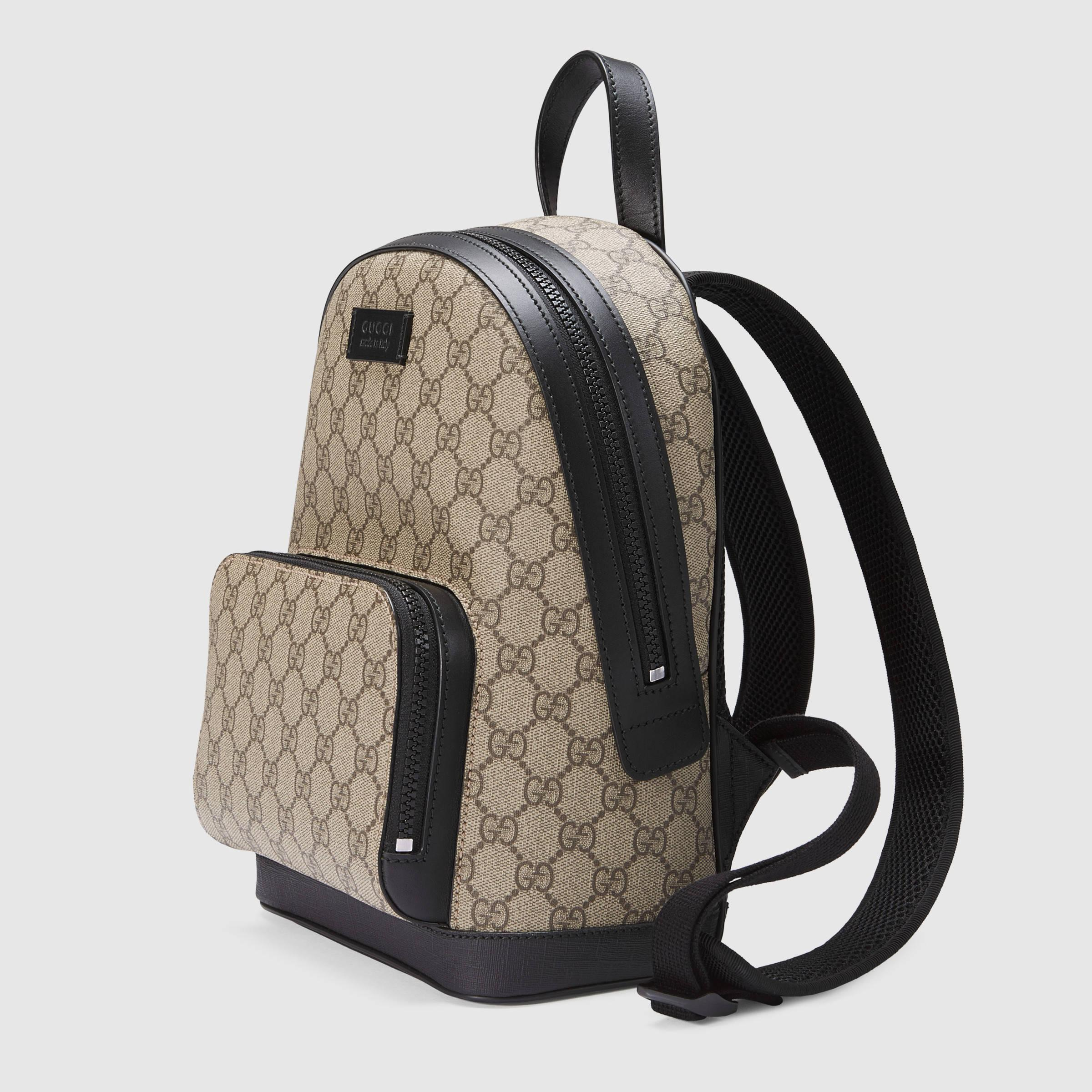 Lyst - Gucci Gg Supreme Small Backpack in Black