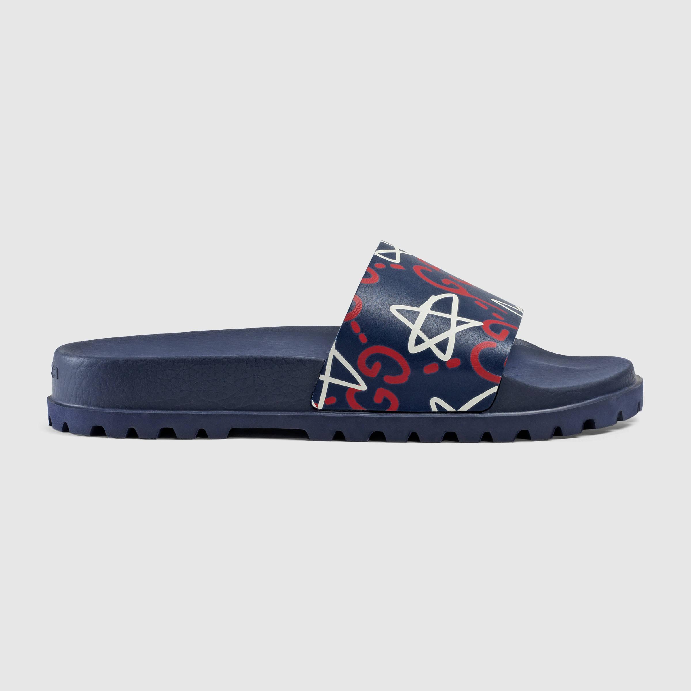 f7121b984975 Lyst - Gucci Ghost Slide Sandal for Men