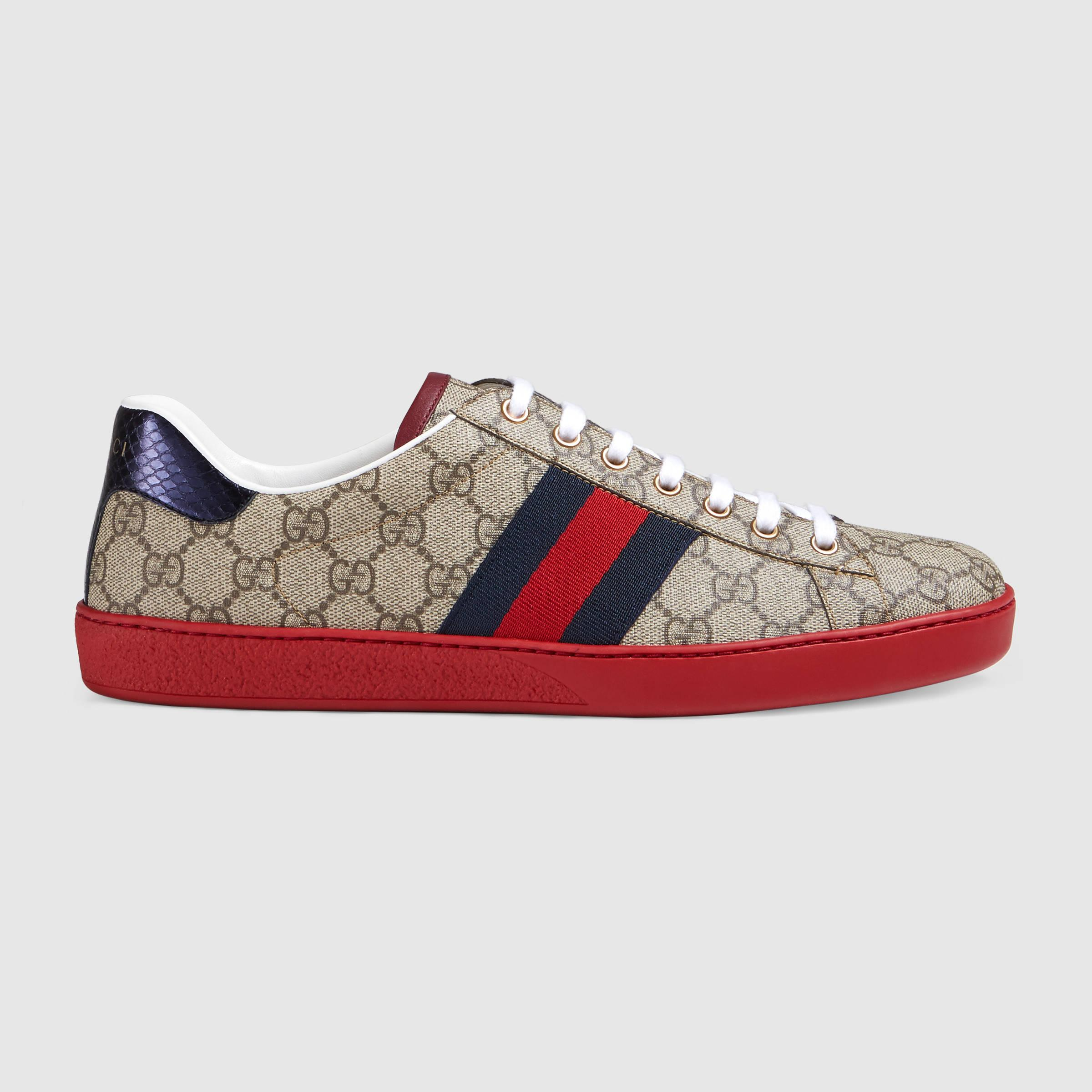 gucci ace gg supreme lowtop sneaker for men lyst