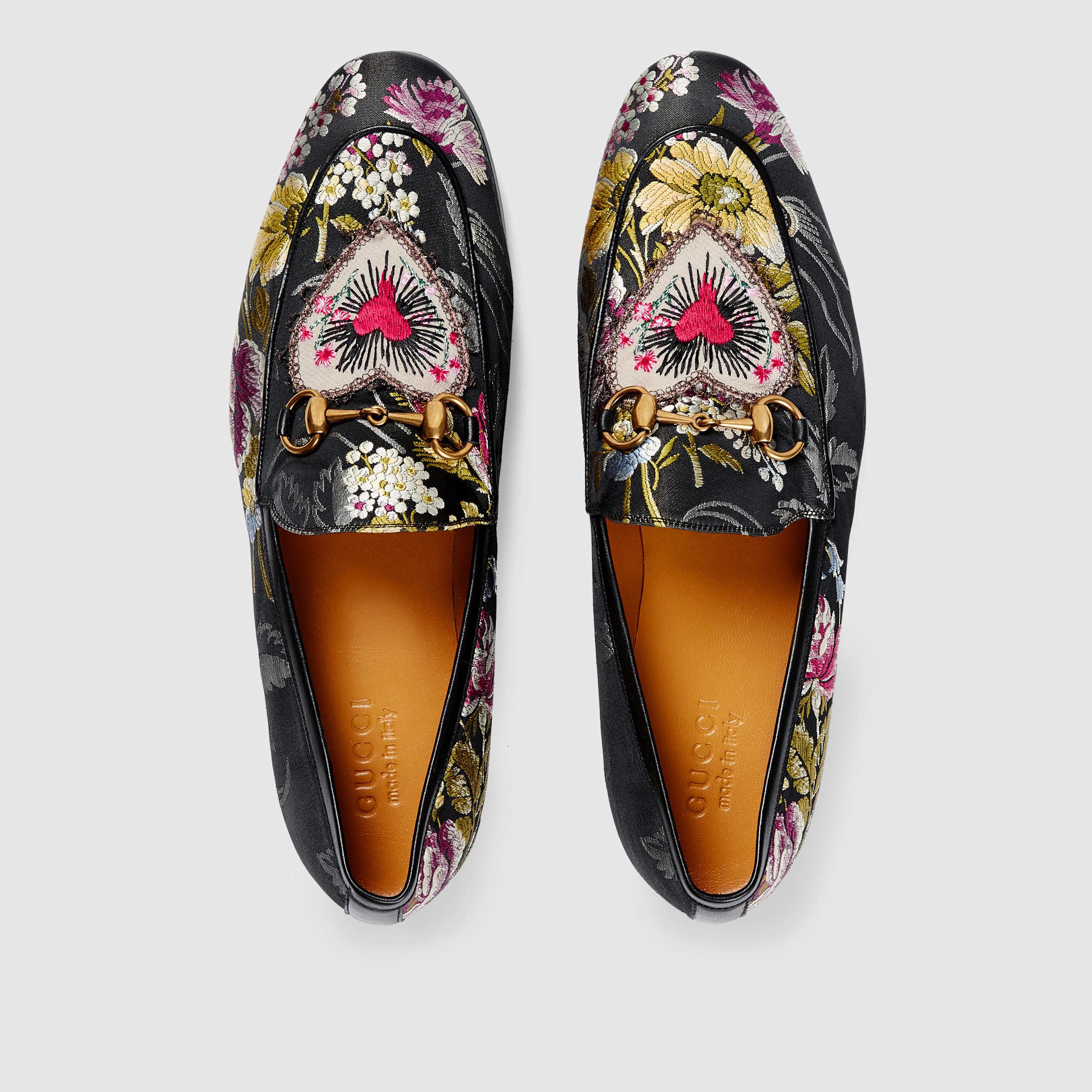 Lyst Gucci Jordaan Floral Jacquard Loafer In Black For Men