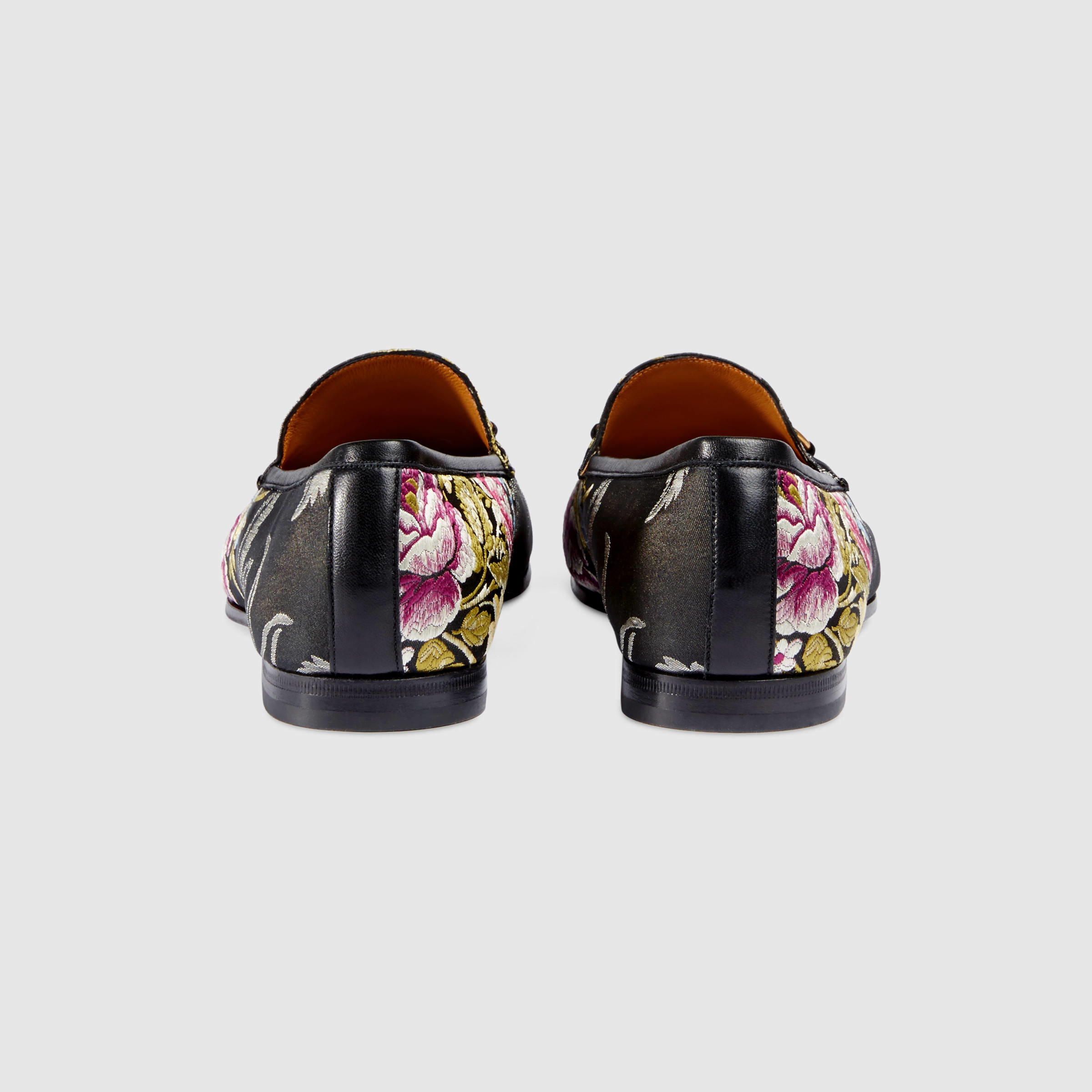 2d7b8a30424 Lyst - Gucci Jordaan Floral Jacquard Loafer in Black for Men