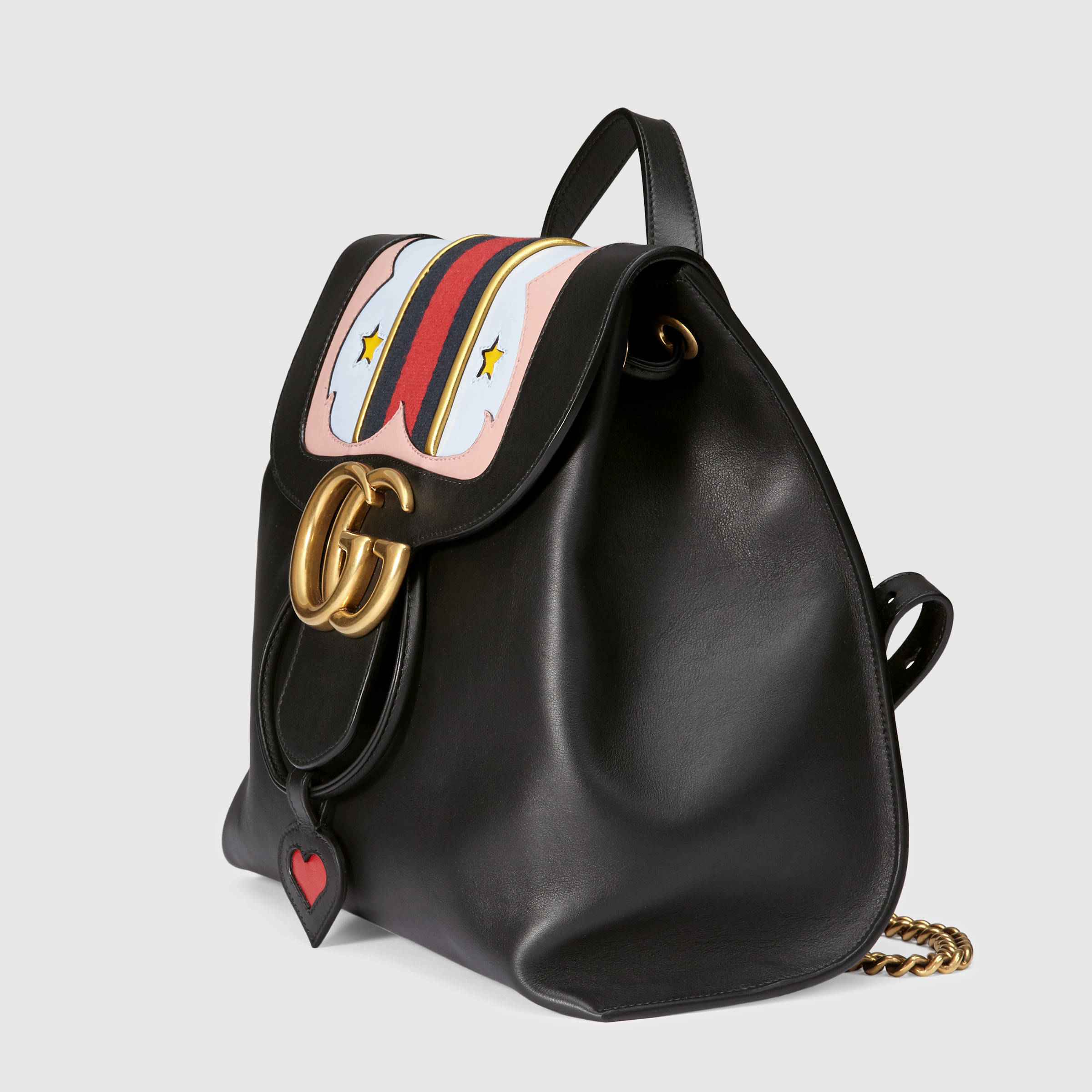Gucci GG Marmont Leather Backpack in Black - Lyst 36f8d9fa57073