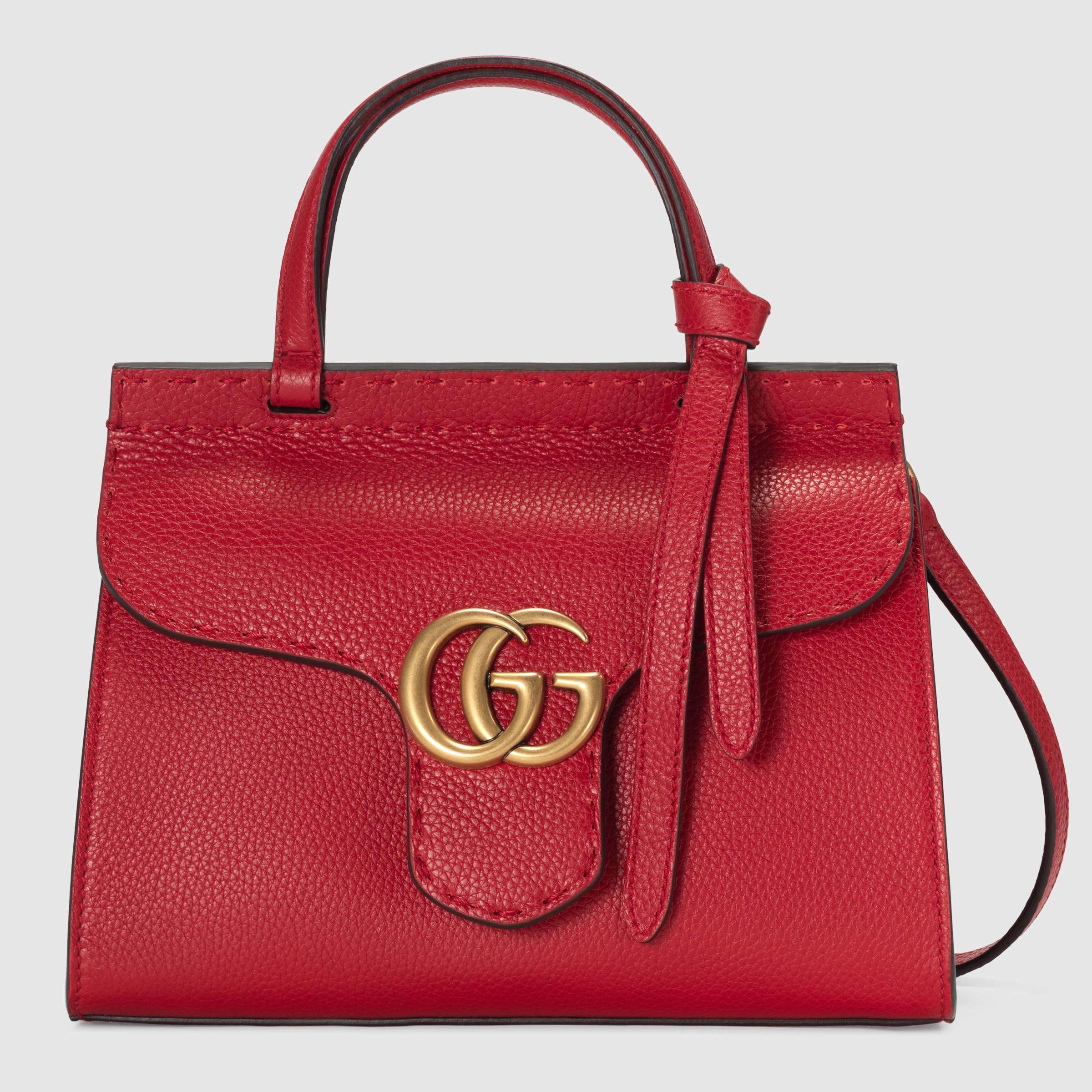 afc44afddc24ef Gucci Gg Marmont Top Handle Bag Red. Gucci GG Marmont Medium Matelassé ...