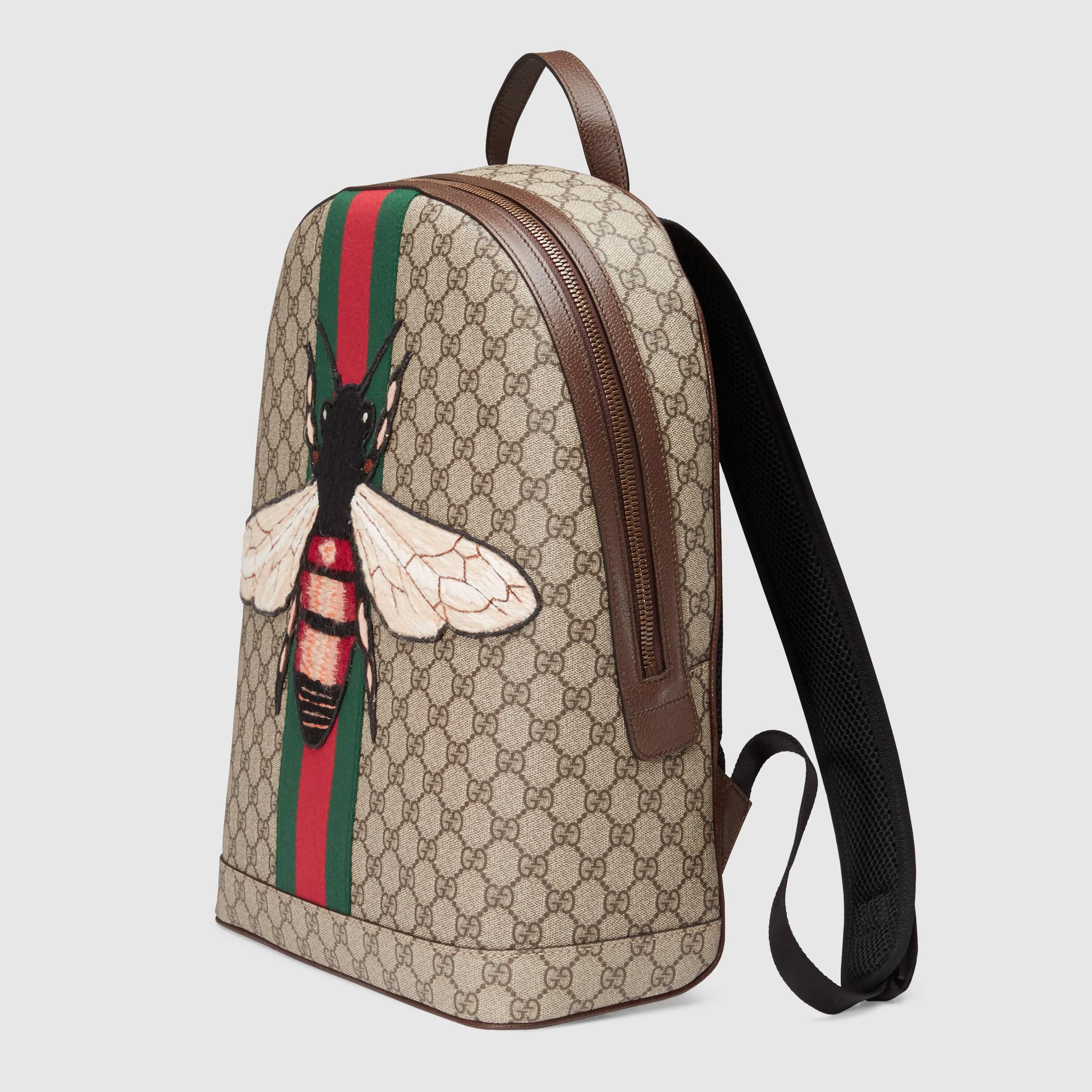dd415936e Gucci Web Animalier Backpack With Bee for Men - Lyst