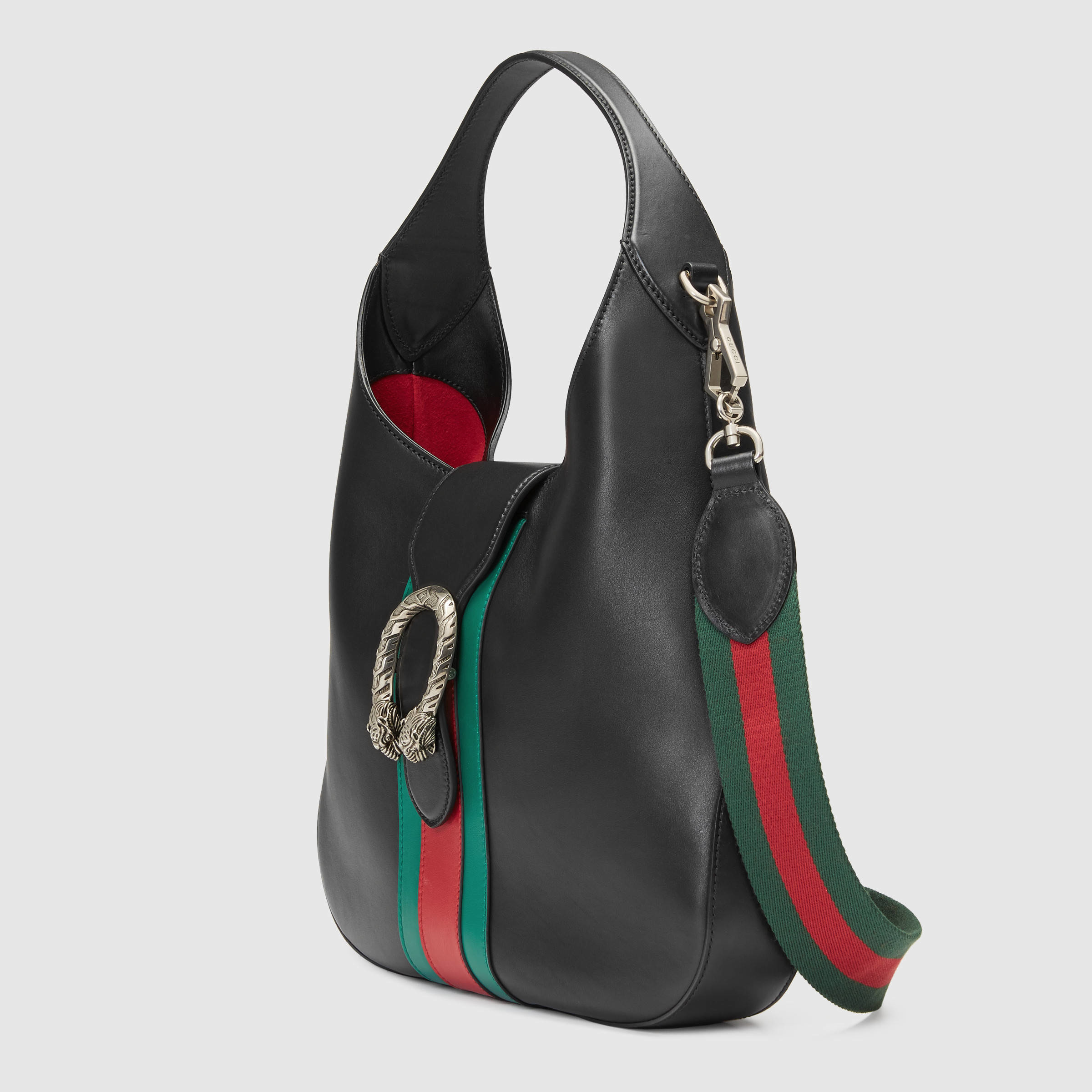 5c9c95e5329070 Gucci Dionysus Medium Web-stripe Hobo Bag in Black - Lyst