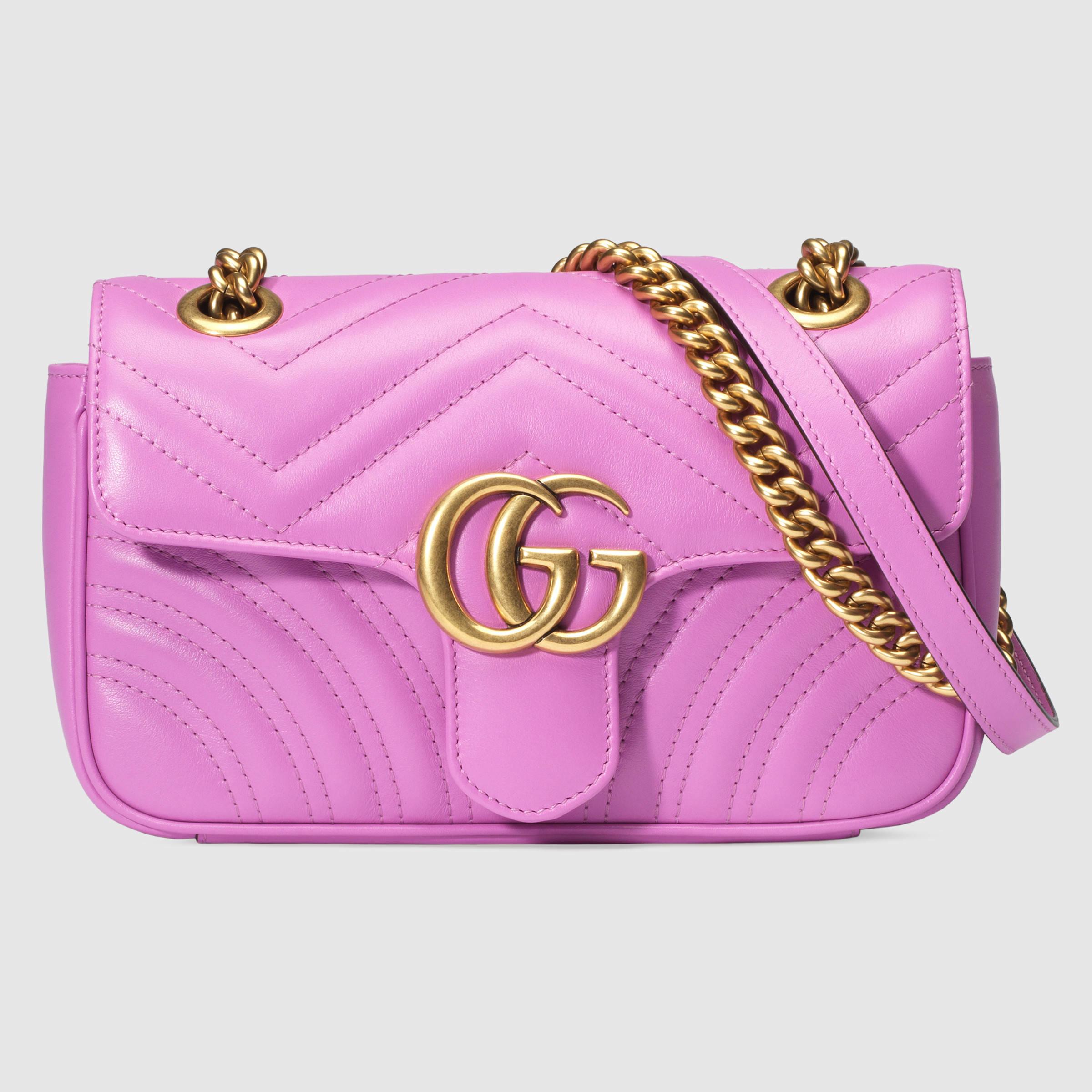 Gucci GG Marmont Matelassé Leather Mini Shoulder Bag in ...