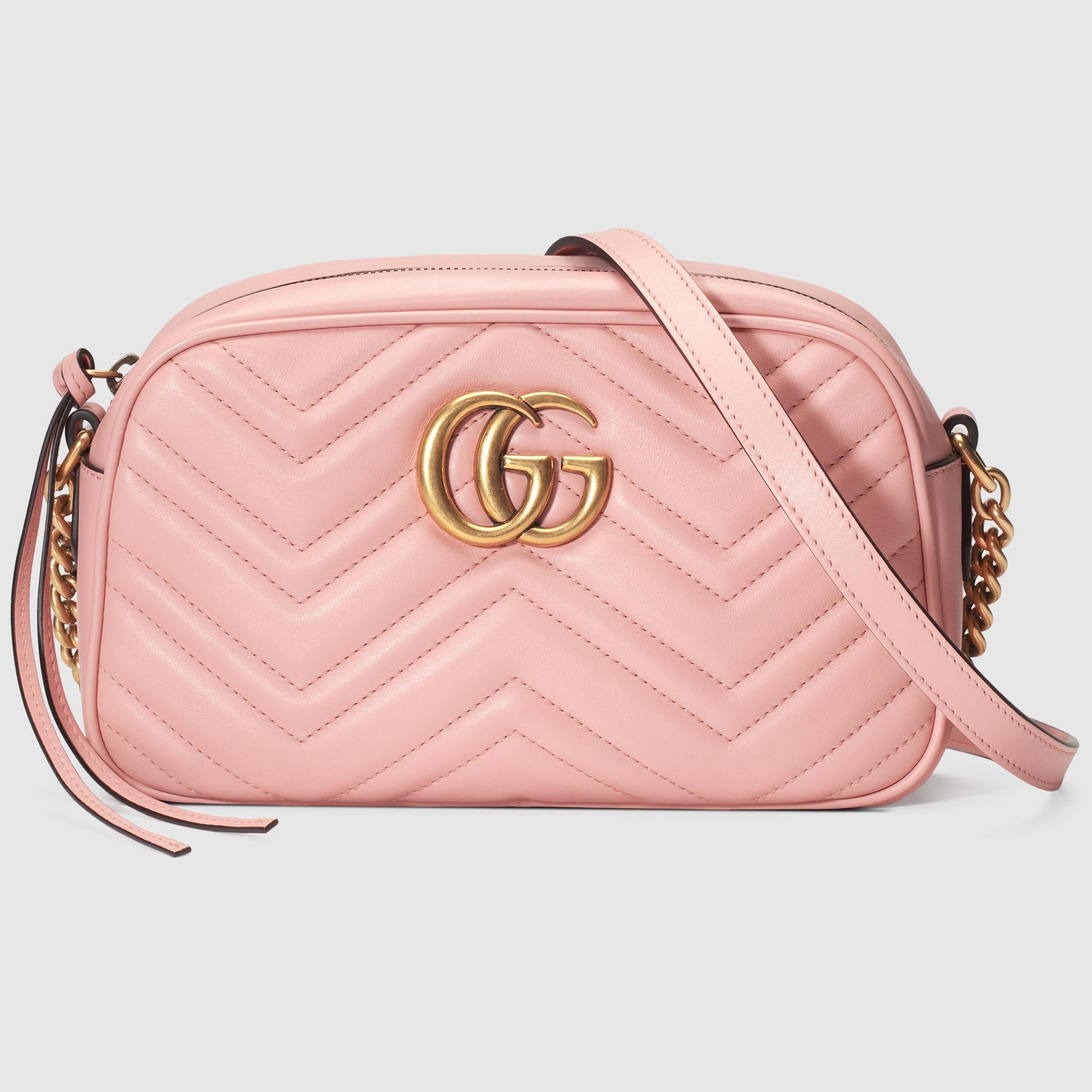 Lyst - Gucci GG Marmont Matelassé Leather Shoulder Bag in ...