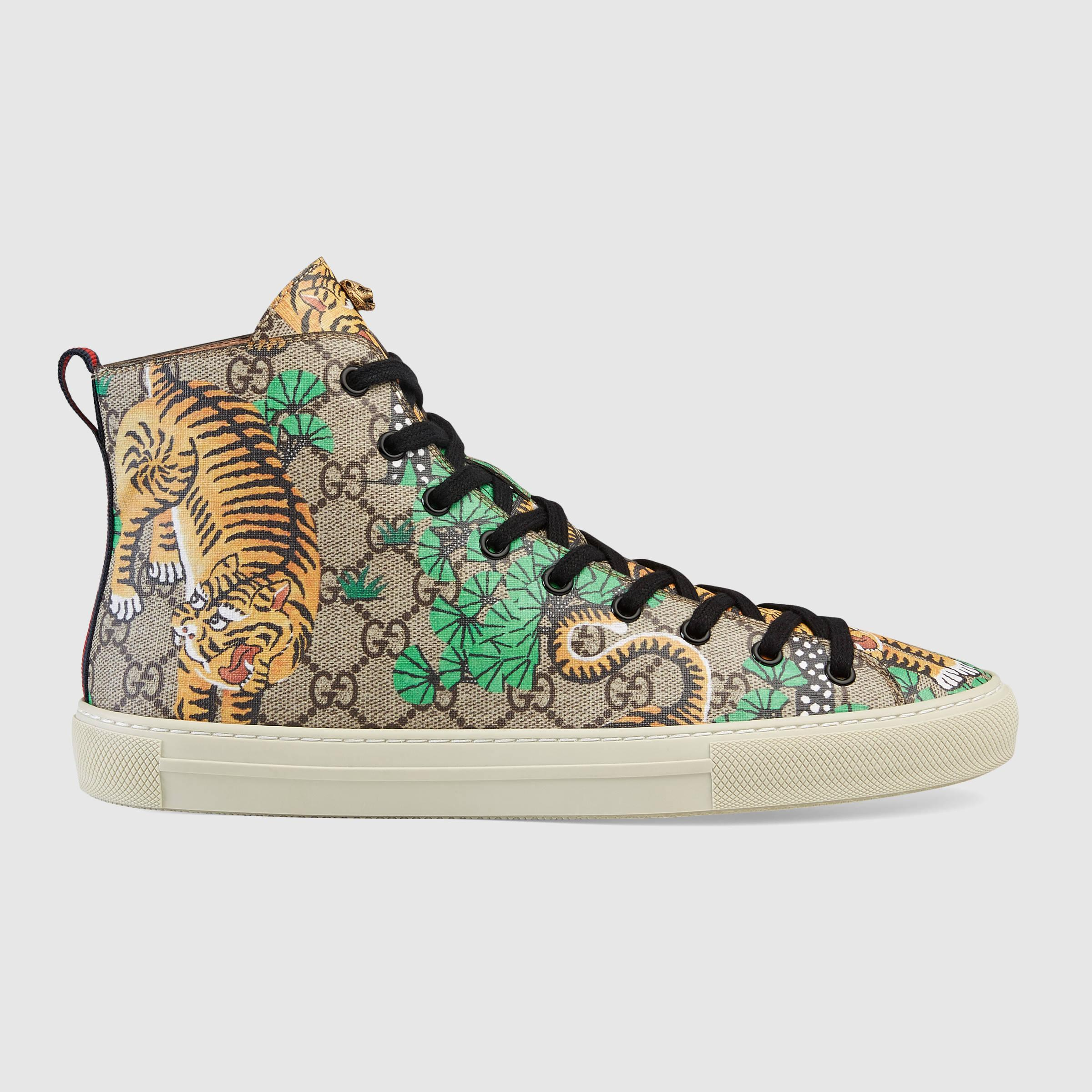 High Top Brown Gucci Shoes