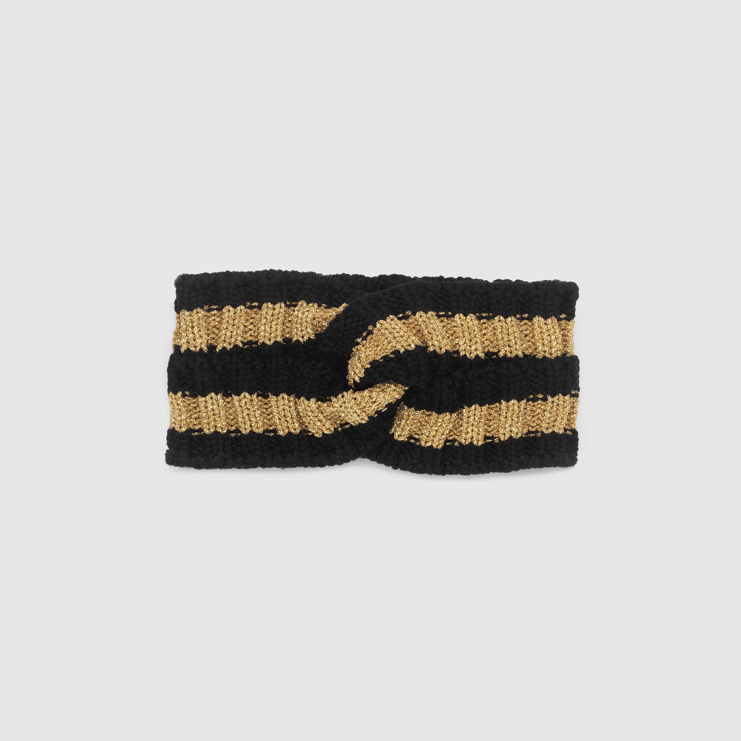 Gucci Wool Lurex Headband in Black   Lyst