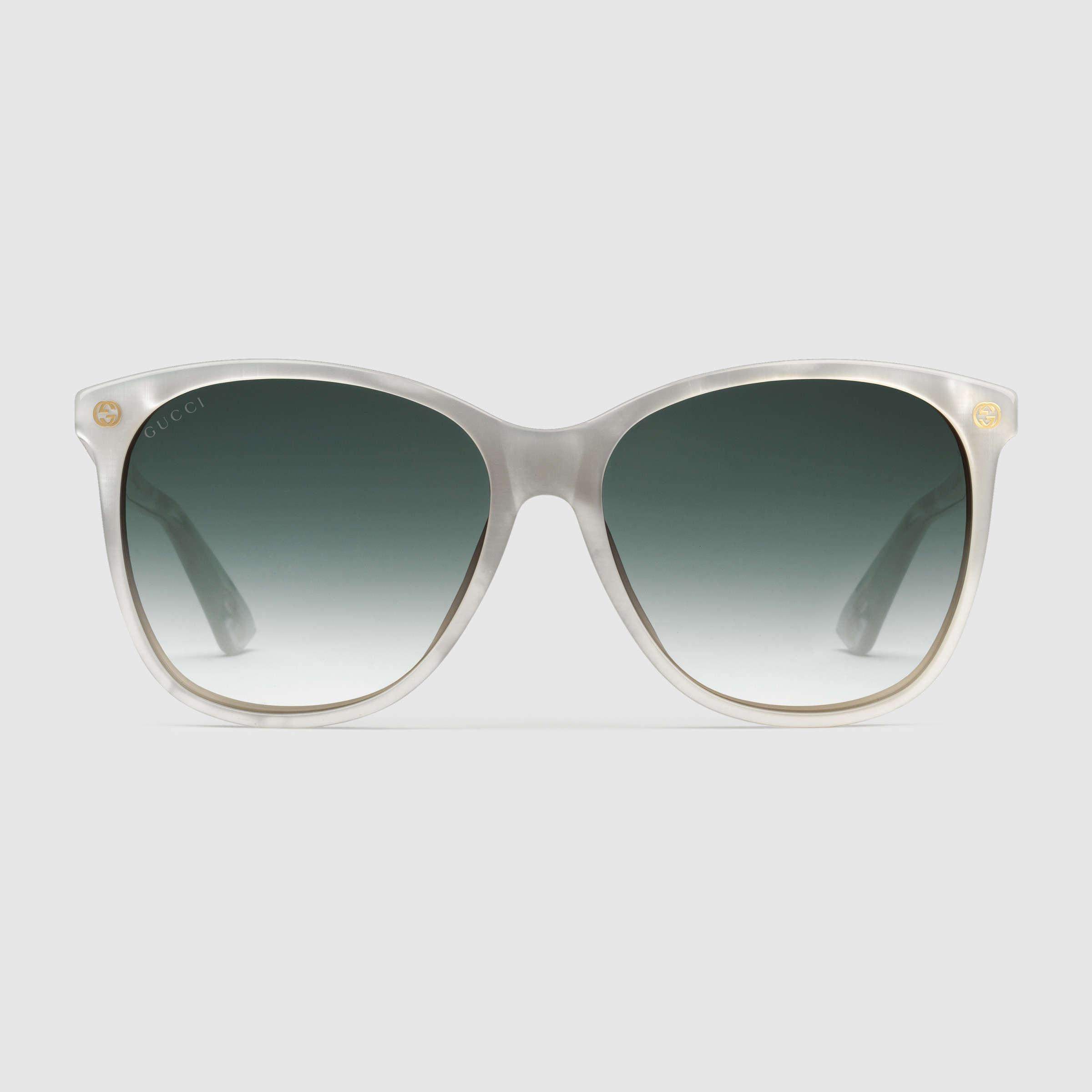 f80c5b00f4 Gucci Oversize Round-frame Acetate And Metal Sunglasses