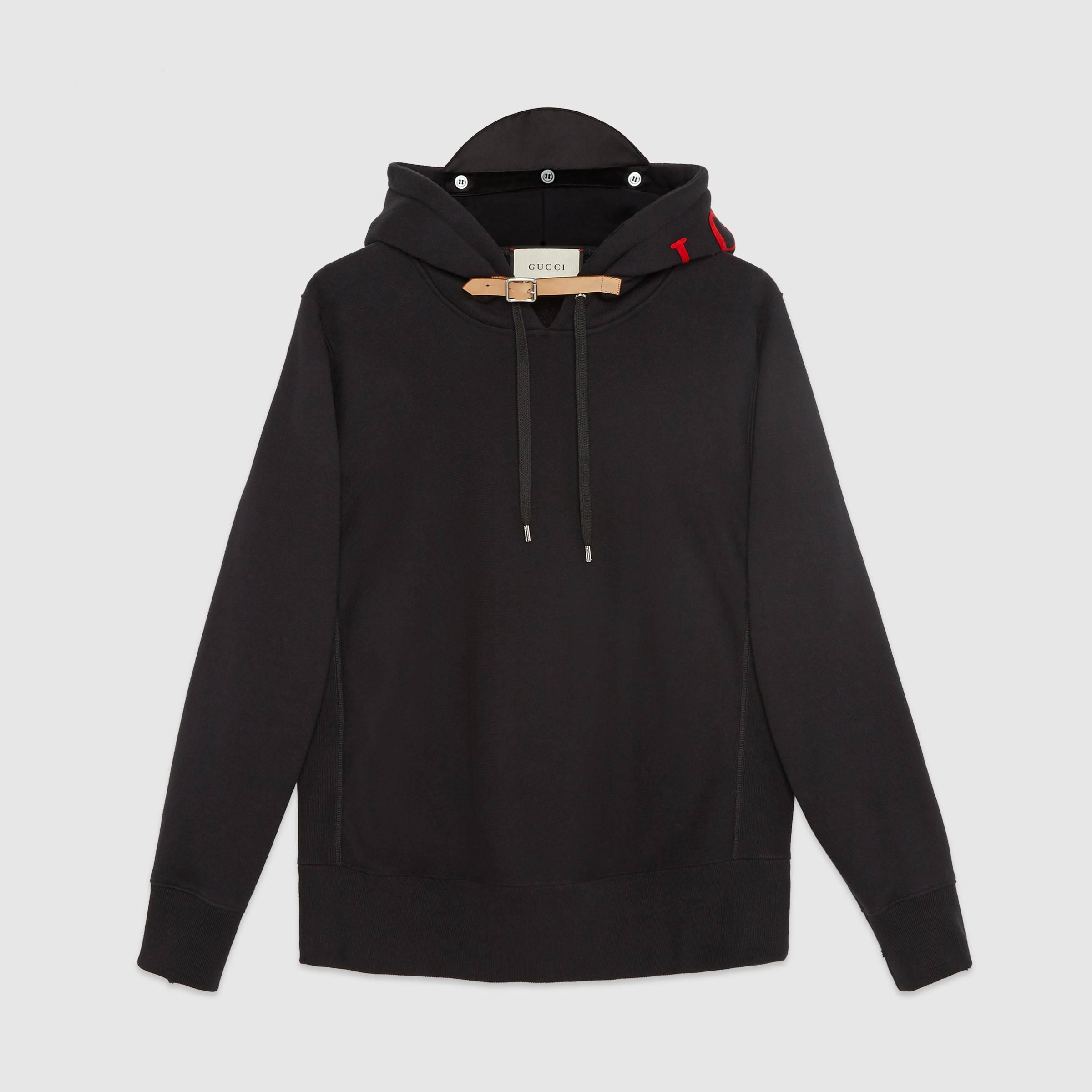 Gucci Cotton Sweatshirt With Appliqu S In Black For Men Lyst