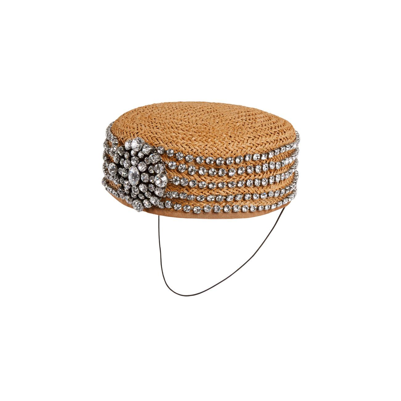 0afcb903a4a Lyst - Gucci Papier Hat With Crystals in White