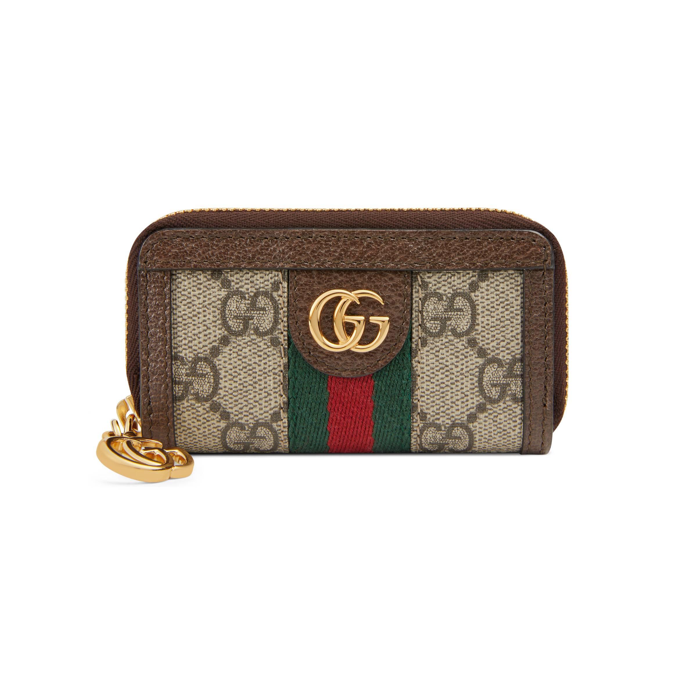 ec8b1fa23f526 Gucci - Natural Ophidia Schlüsseletui mit GG - Lyst. Vollbild ansehen