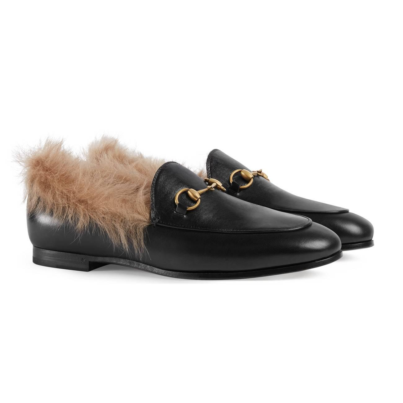 1cbd89d170d Gucci - Natural Jordaan Wool Loafer - Lyst. View fullscreen