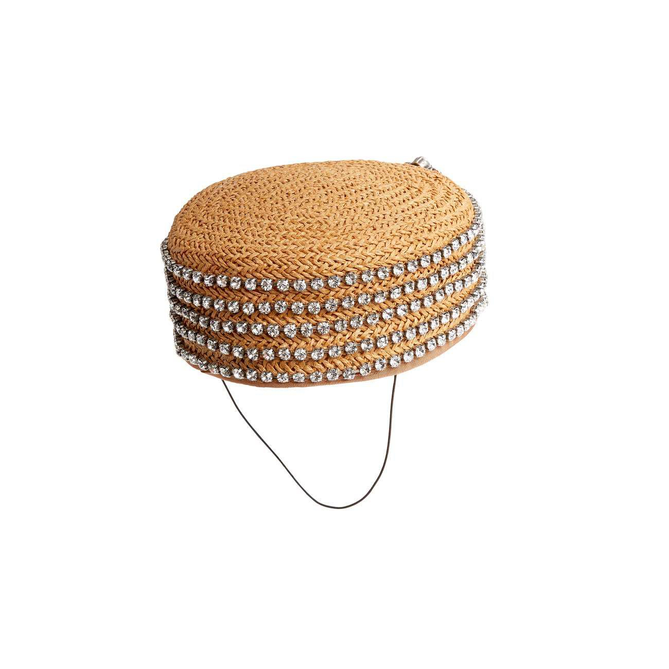 Lyst - Gucci Papier Hat With Crystals in White b0e58d1e45a