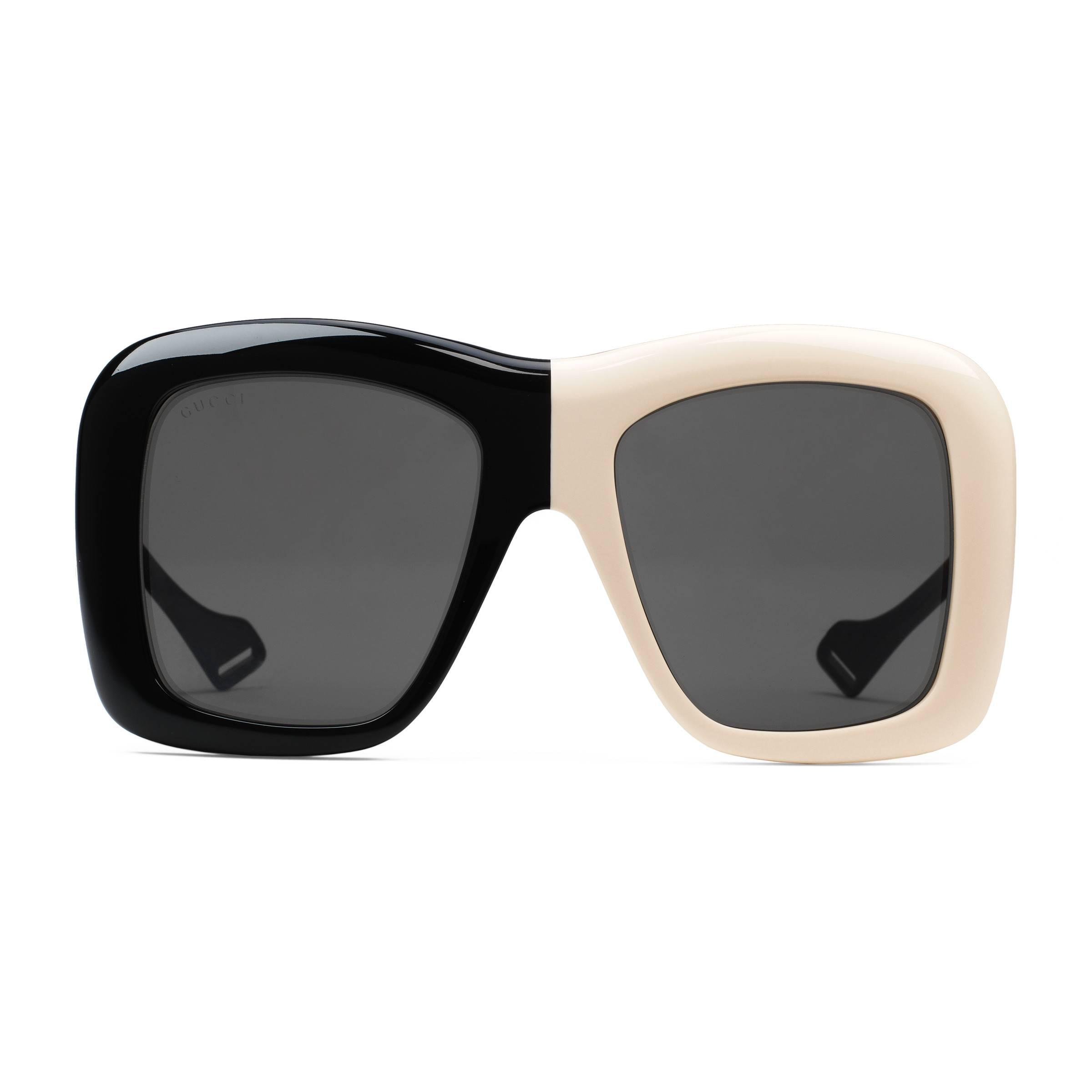 79986b9bd70 Gucci Oversize Square-frame Sunglasses in Black - Save 12% - Lyst
