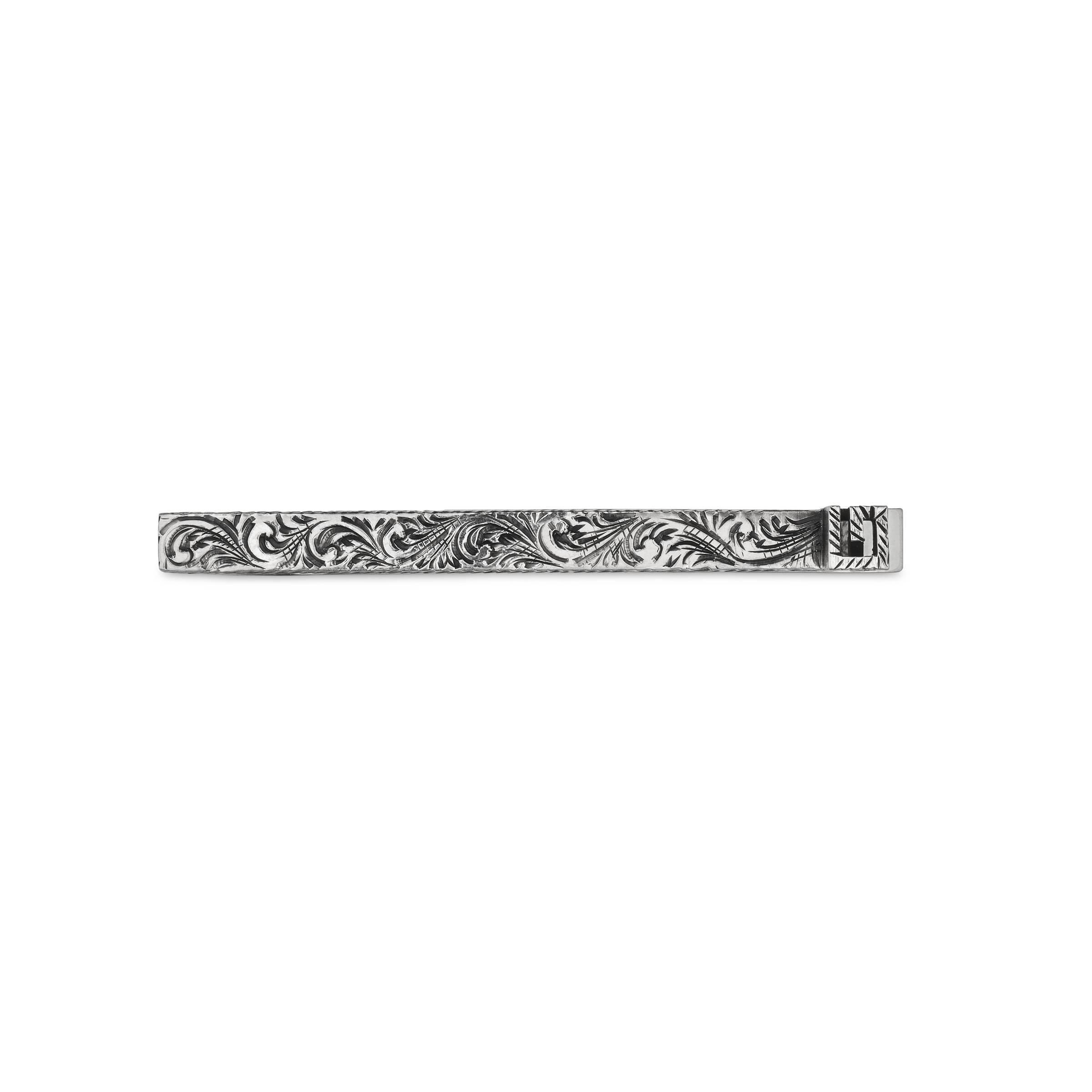 Brooke sujetacorbatas//un alfiler de corbata con cadena de plata