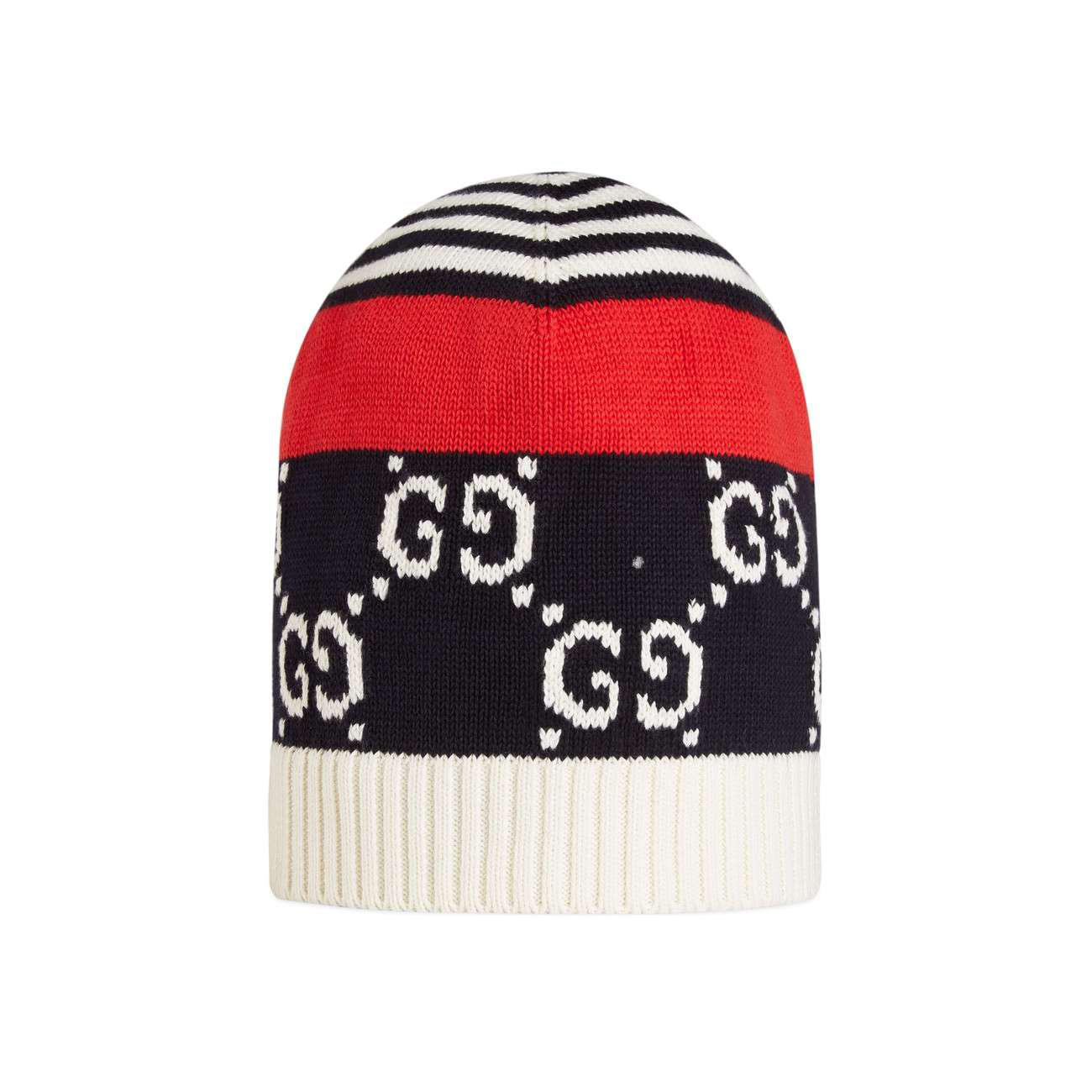 17c8e151 Lyst - Gucci Cotton Hat With GG Motif in Blue