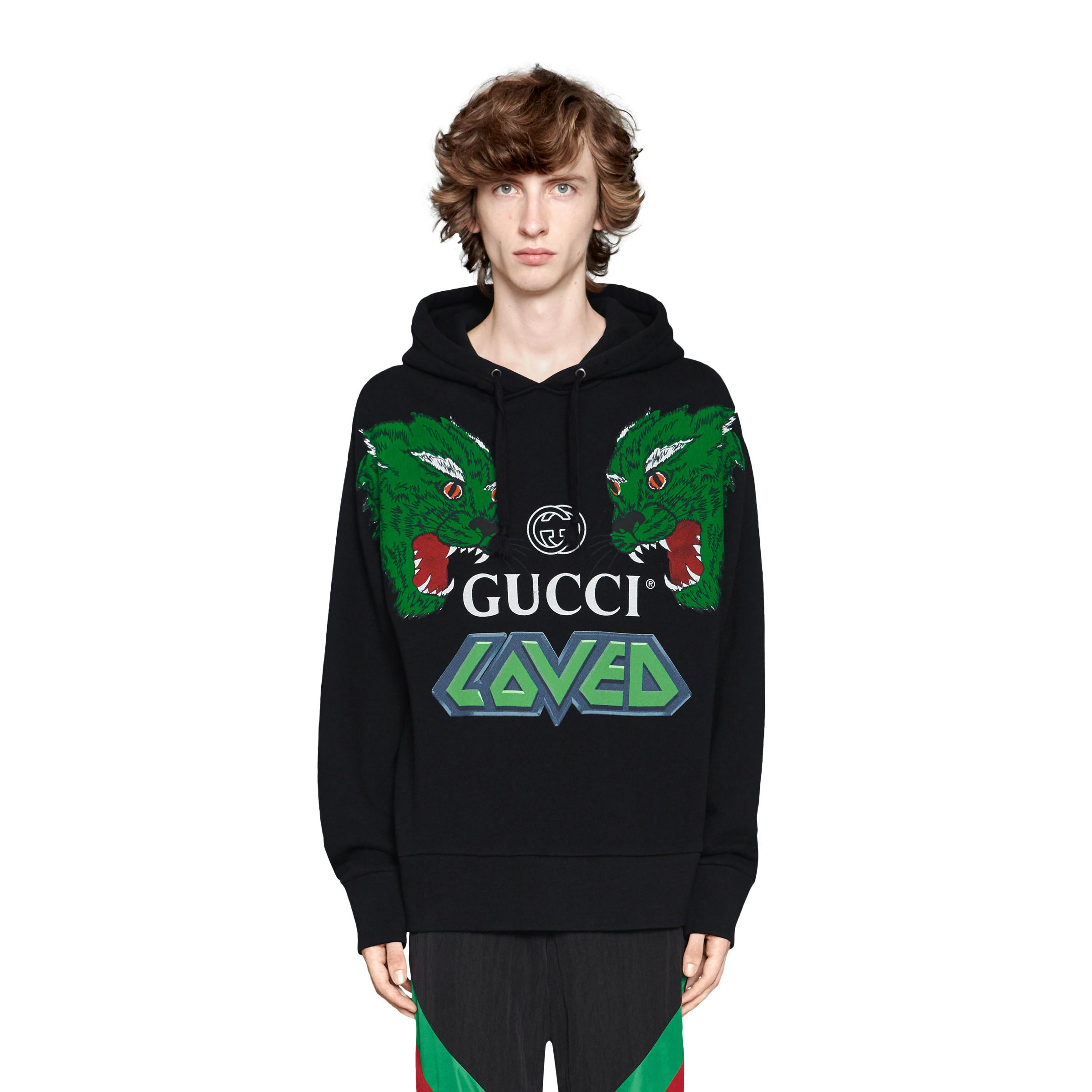 d83fa4b6d5 Gucci Cotton Sweatshirt With Tigers in Black for Men - Lyst