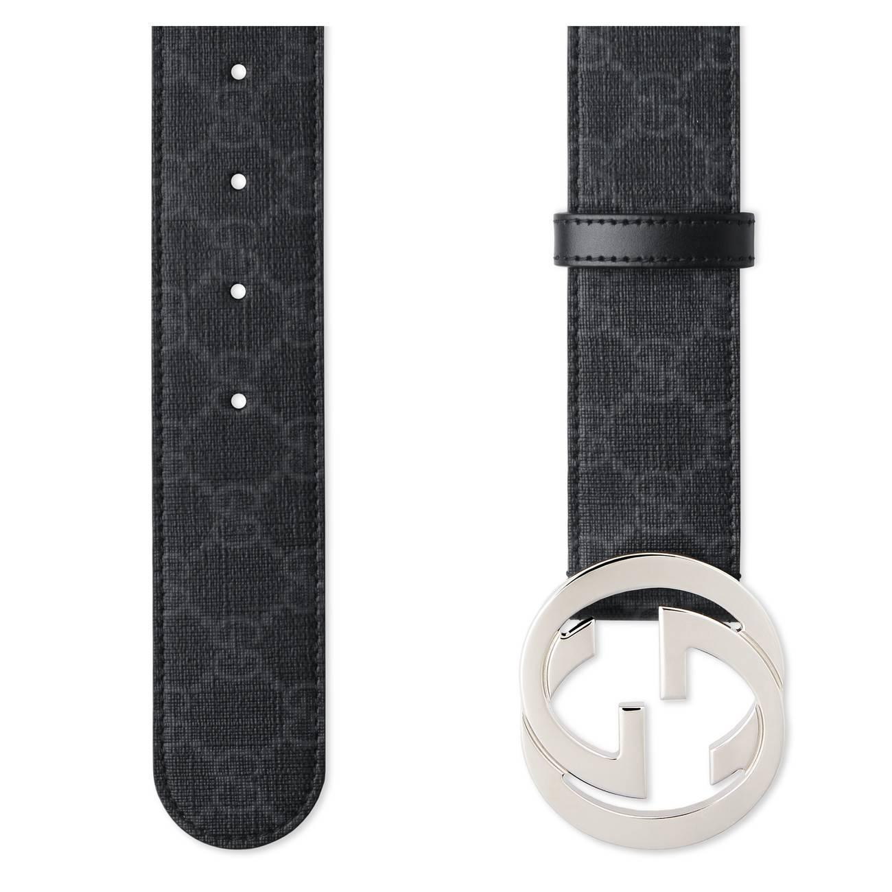6150bf27769 Gucci - Gray GG Supreme Belt With G Buckle for Men - Lyst. View fullscreen