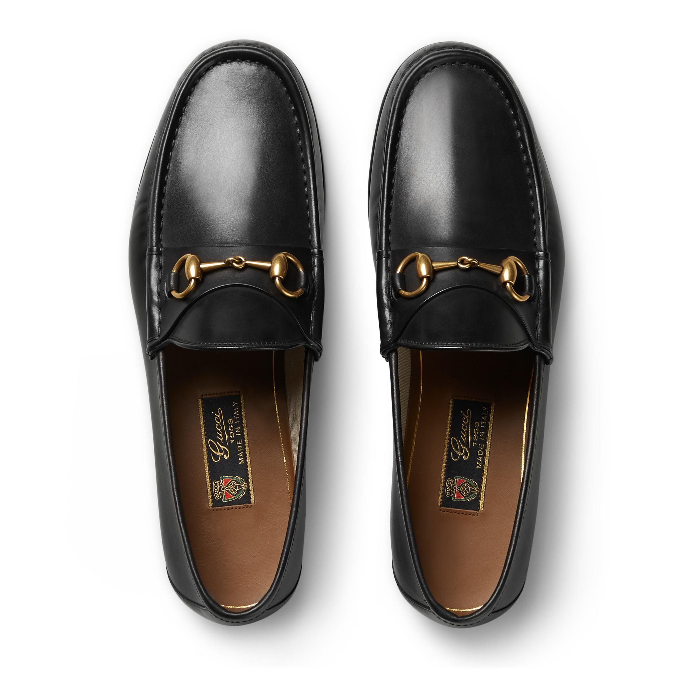 26caa2233aa Gucci - Black 1953 Horsebit Leather Loafers for Men - Lyst. View fullscreen
