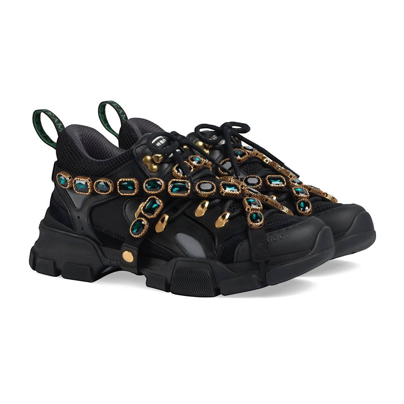 7e8269ec46de ... Flashtrek Leather Sneaker With Crystals for Men - Lyst. View fullscreen
