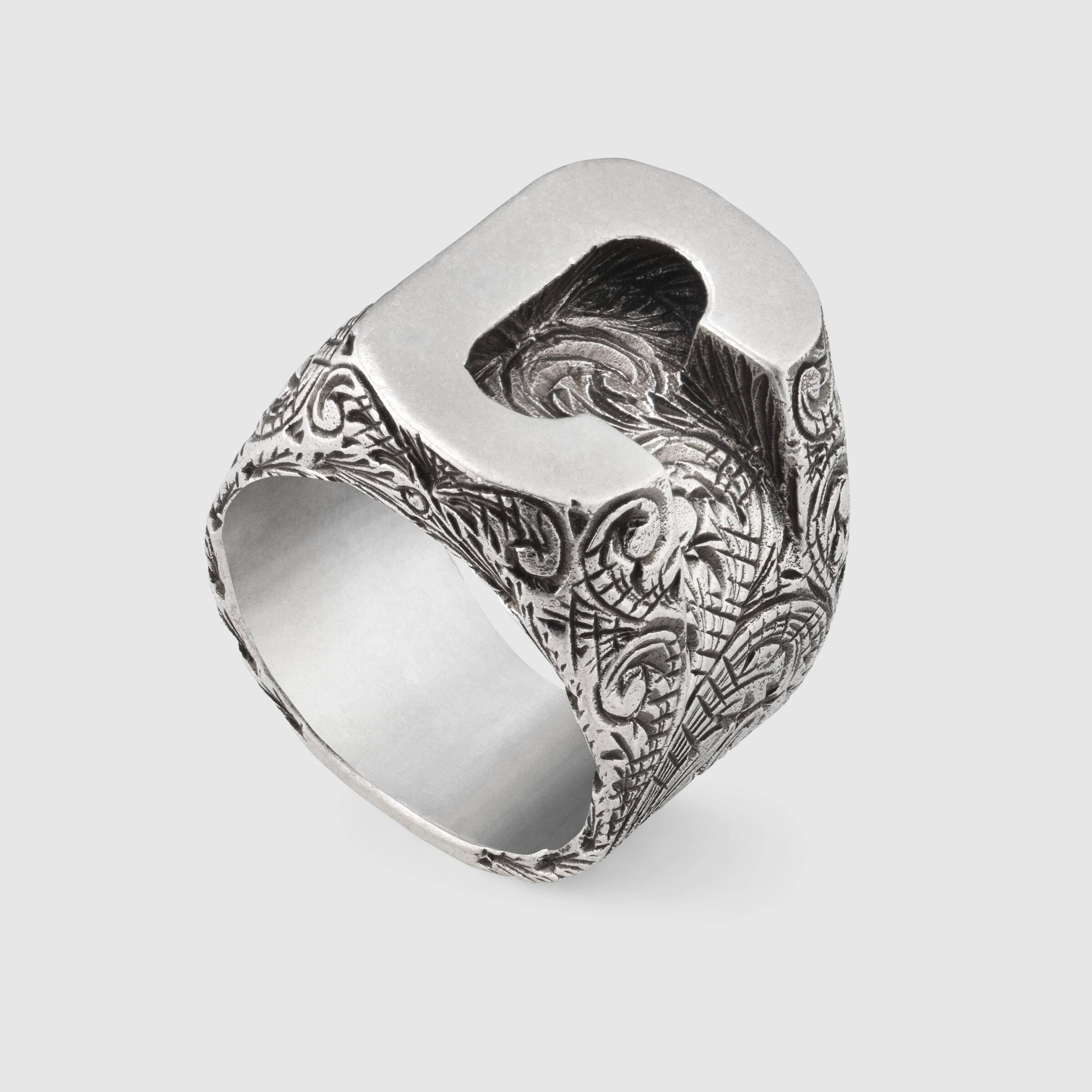 Artisan Owl Double Chevron Stainless Steel Statement Ring