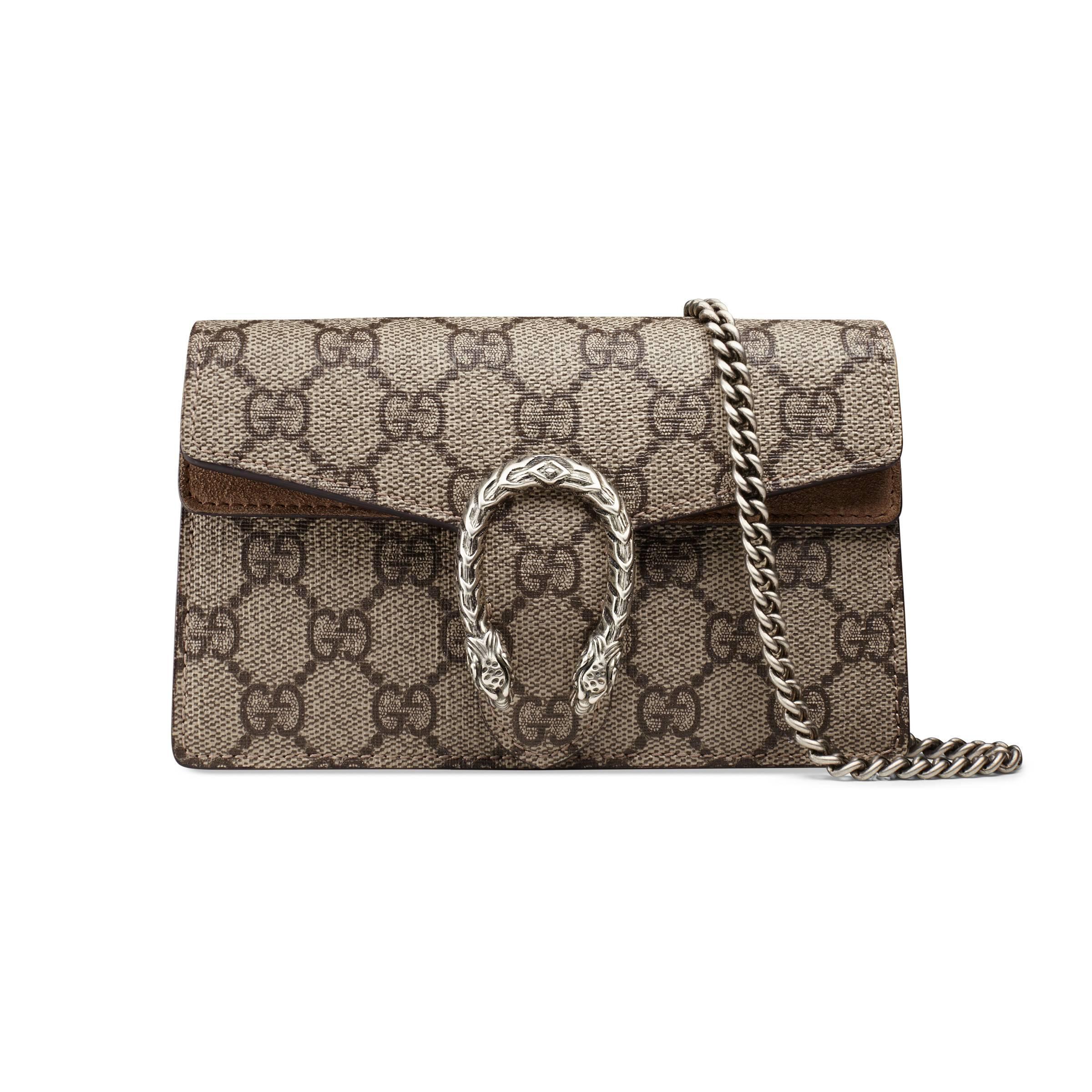 1569d7ed3ab Gucci Dionysus GG Supreme Super Mini Bag in Natural - Lyst