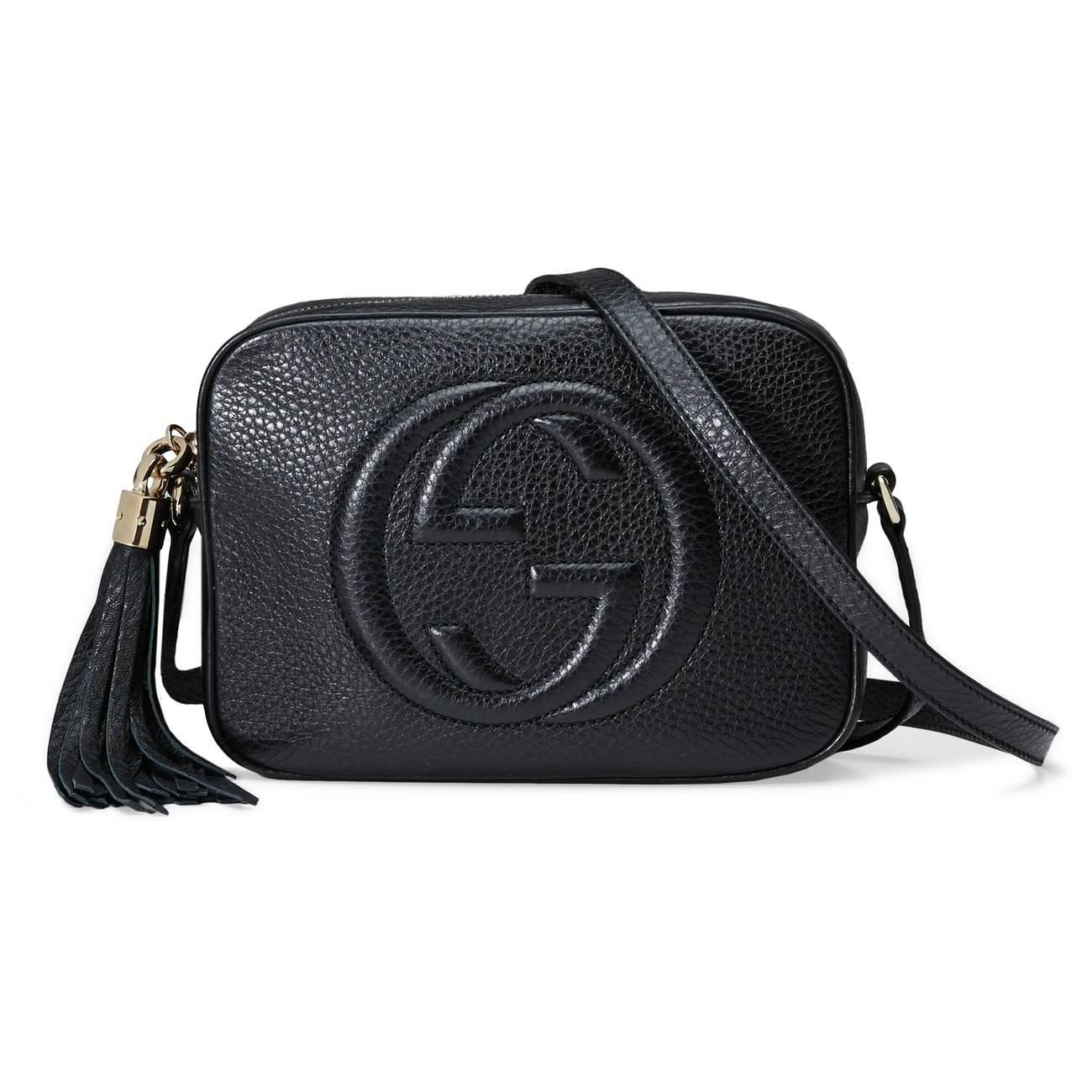 7989240d7802 Lyst - Gucci Soho Small Leather Disco Bag in Black