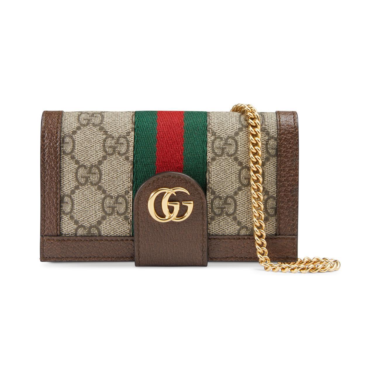 4310d78ac854 Gucci Ophidia GG Chain Iphone 7/8 Case in Metallic - Lyst