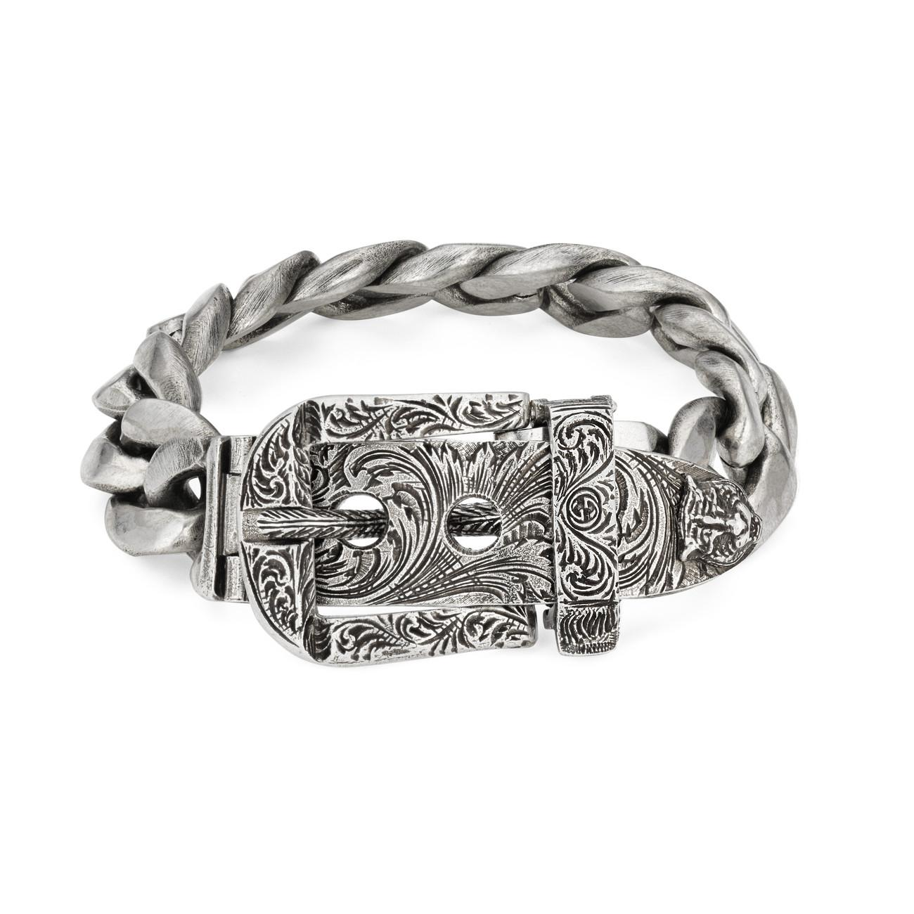 37f3bb33d Lyst - Gucci Garden Bracelet In Silver in Metallic for Men