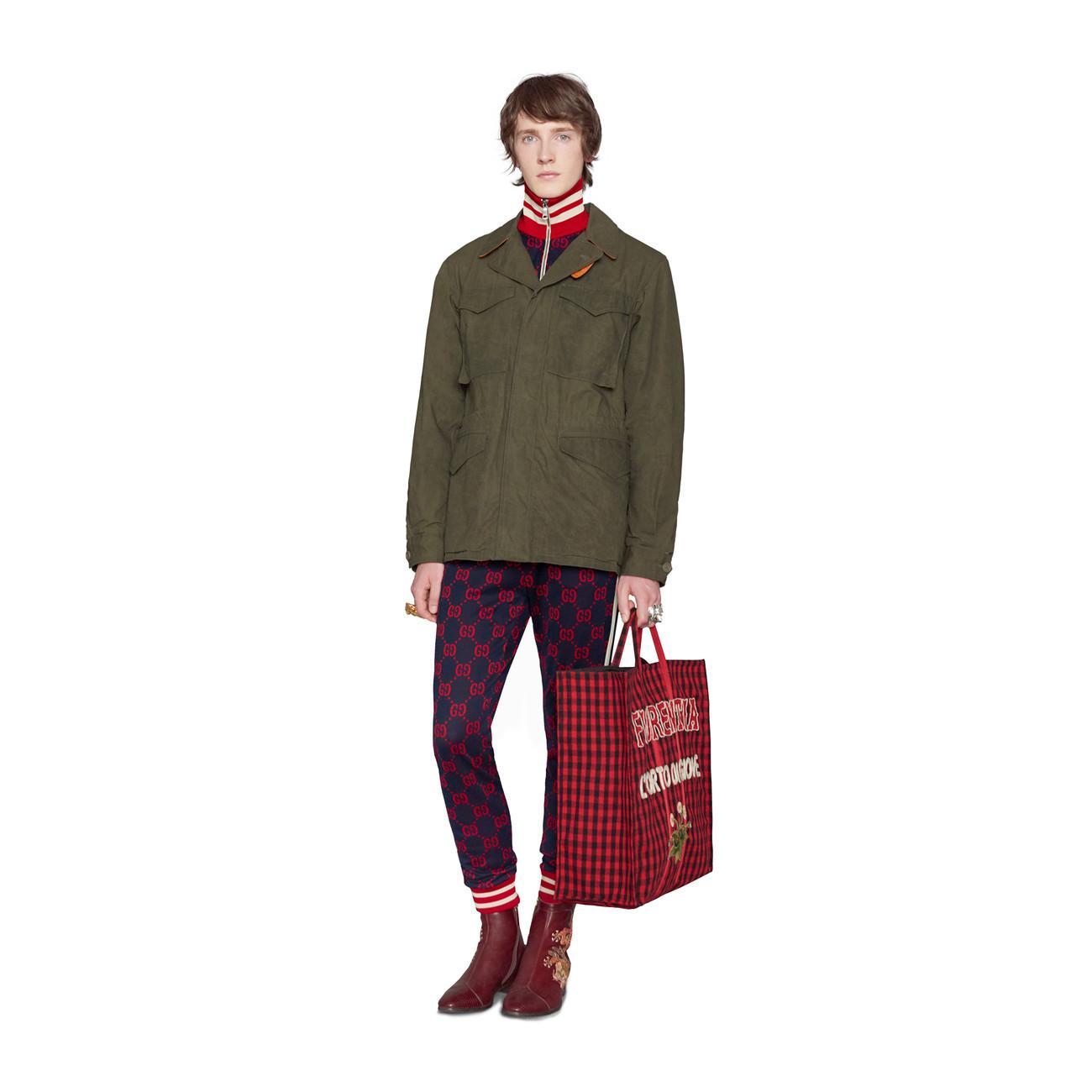 7a8afe5bd8f733 Gucci - Blue GG Jacquard Cotton Jacket for Men - Lyst. View fullscreen