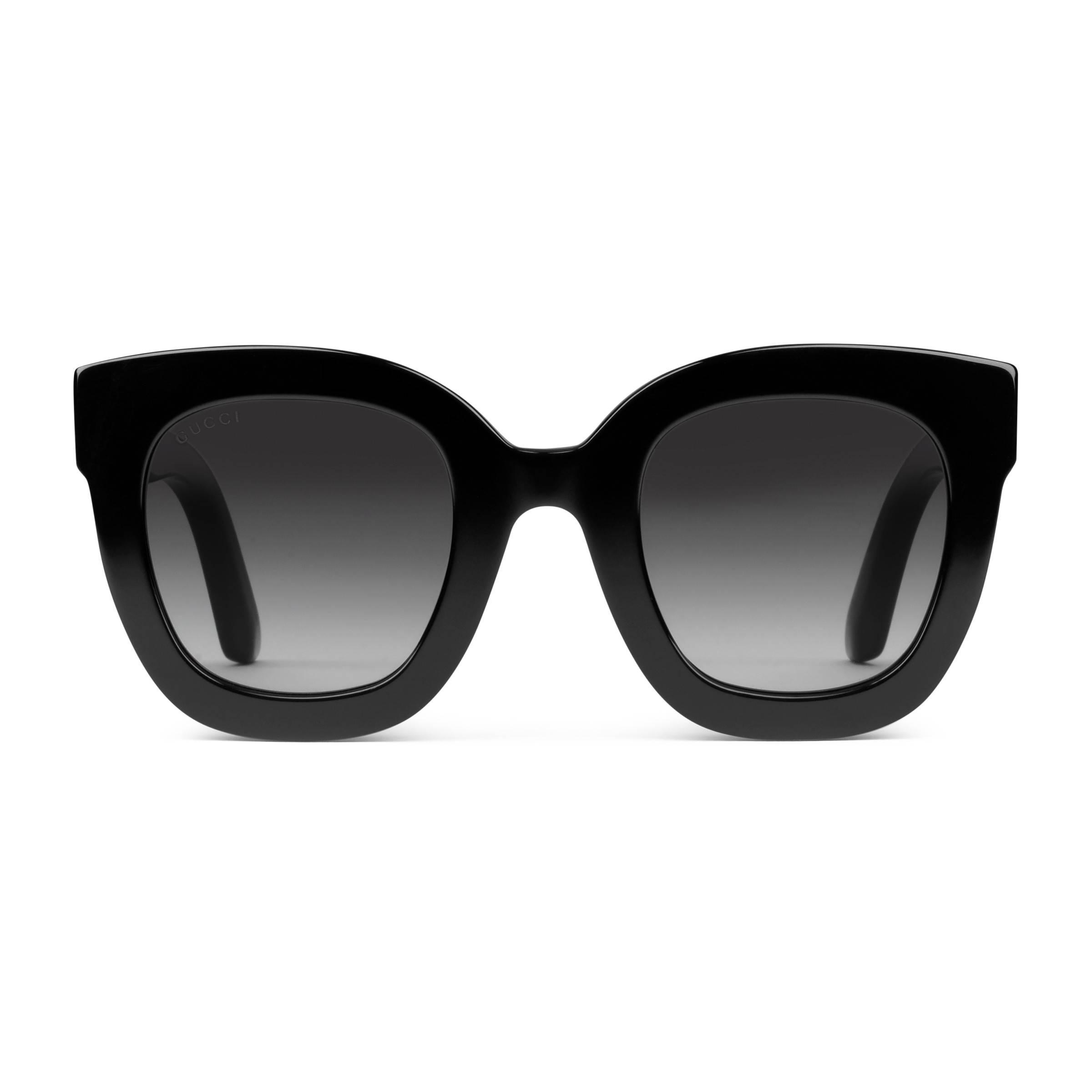 aa19a8e2be Gucci - Black Gafas de Sol con Montura Redonda de Acetato con Estrella -  Lyst. Ver en pantalla completa