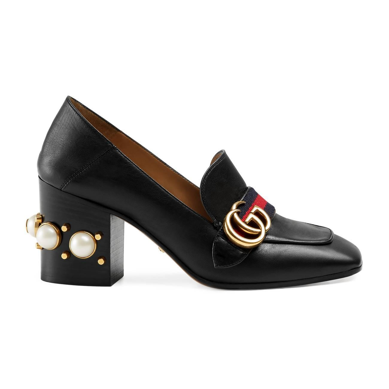 558ad251e5f Gucci. Women s Leather Mid-heel Loafer