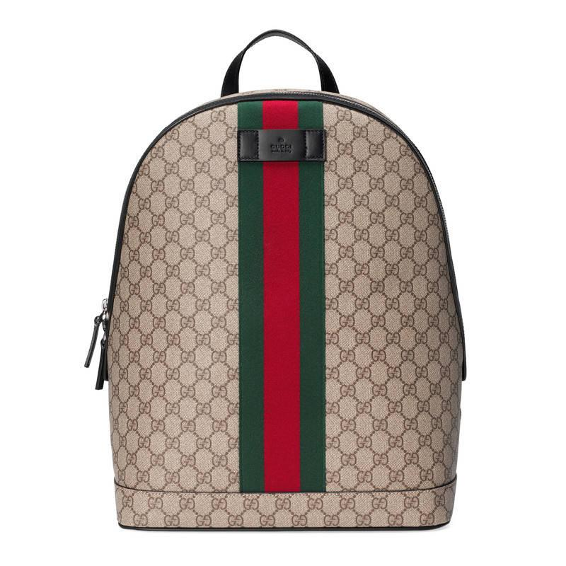 Gucci Canvas Gg Supreme Backpack With Web For Men Lyst