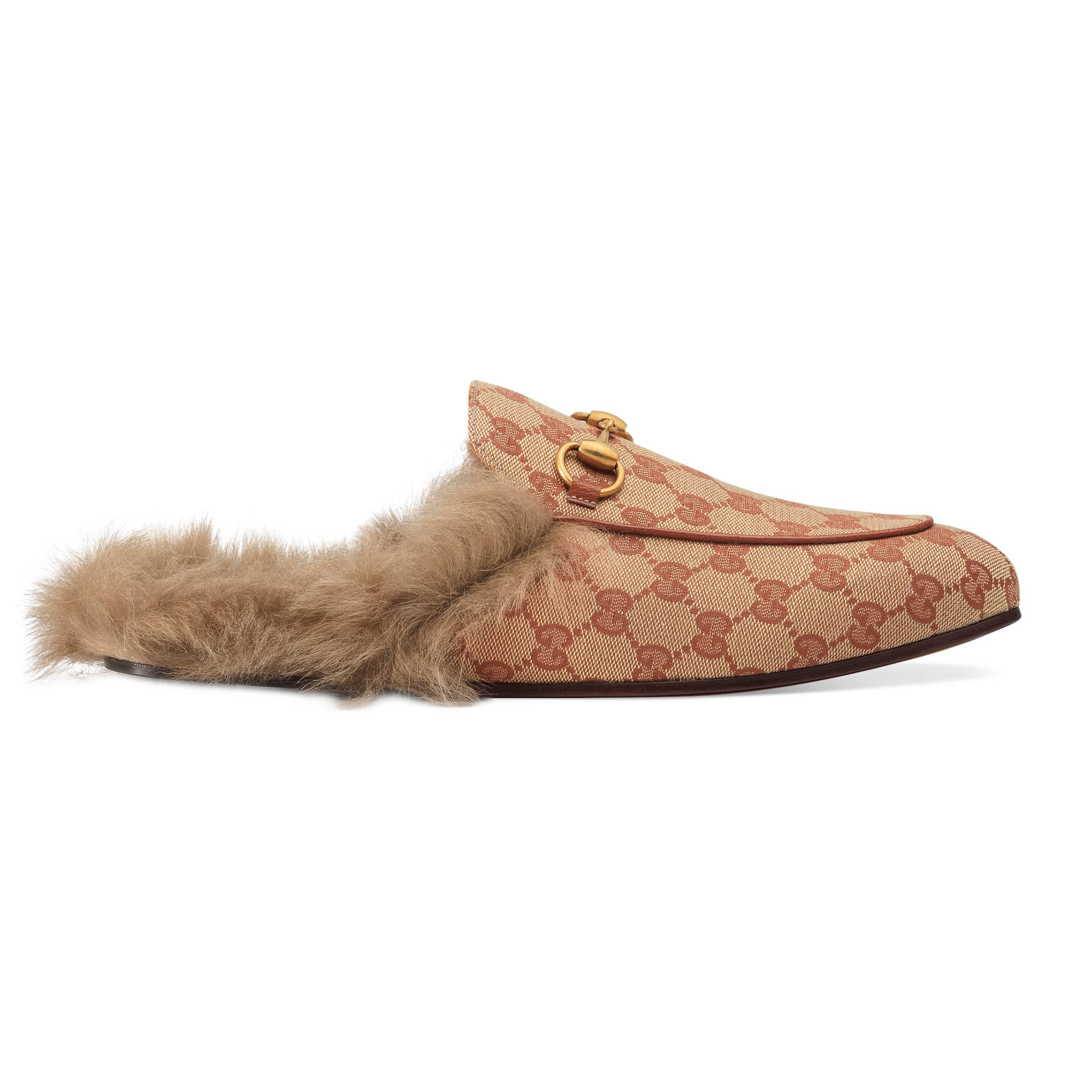a1a430afb81b Gucci Princetown Canvas Slippers in Natural for Men - Save 9% - Lyst