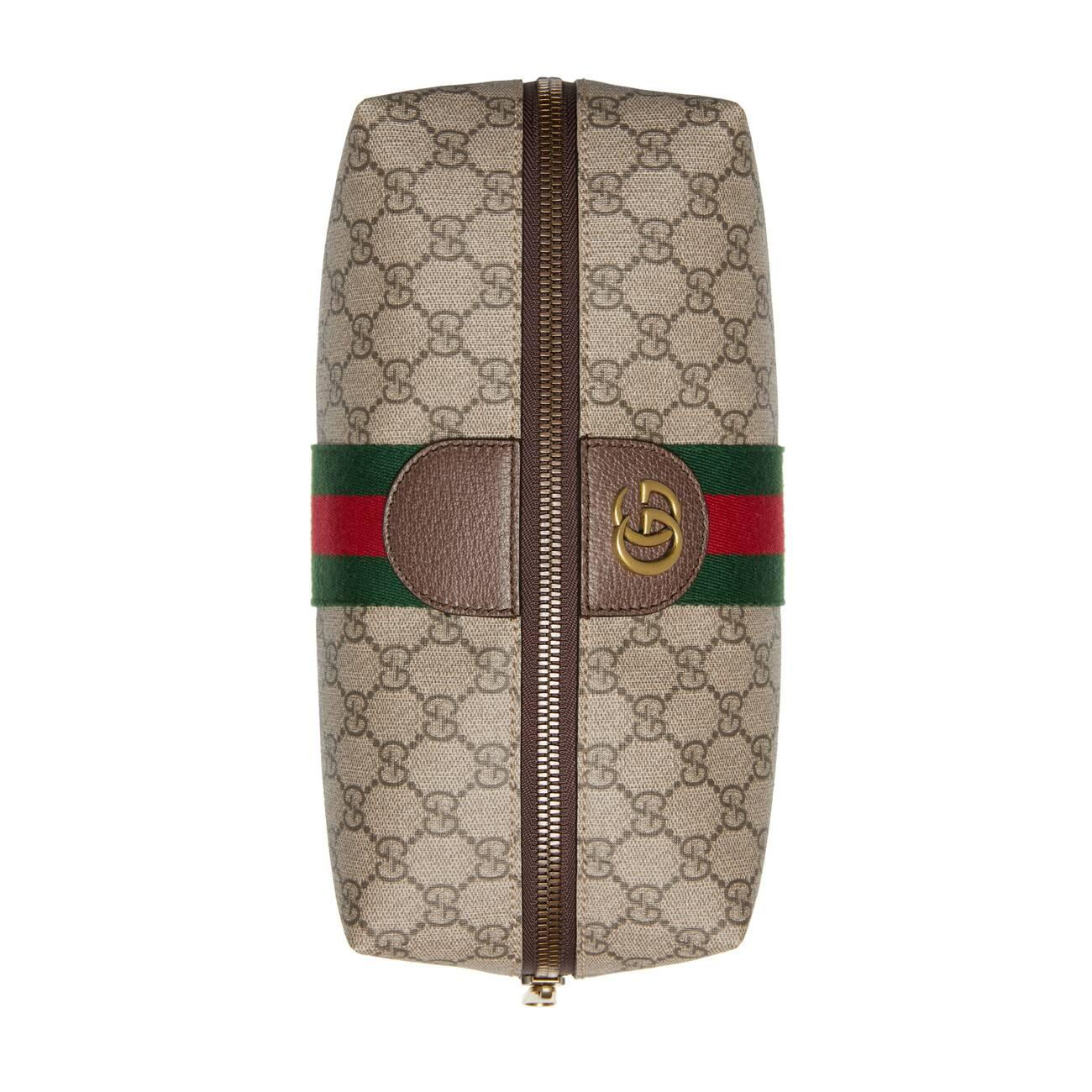 Gucci Canvas Ophidia Gg Toiletry Case In Brown For Men Lyst