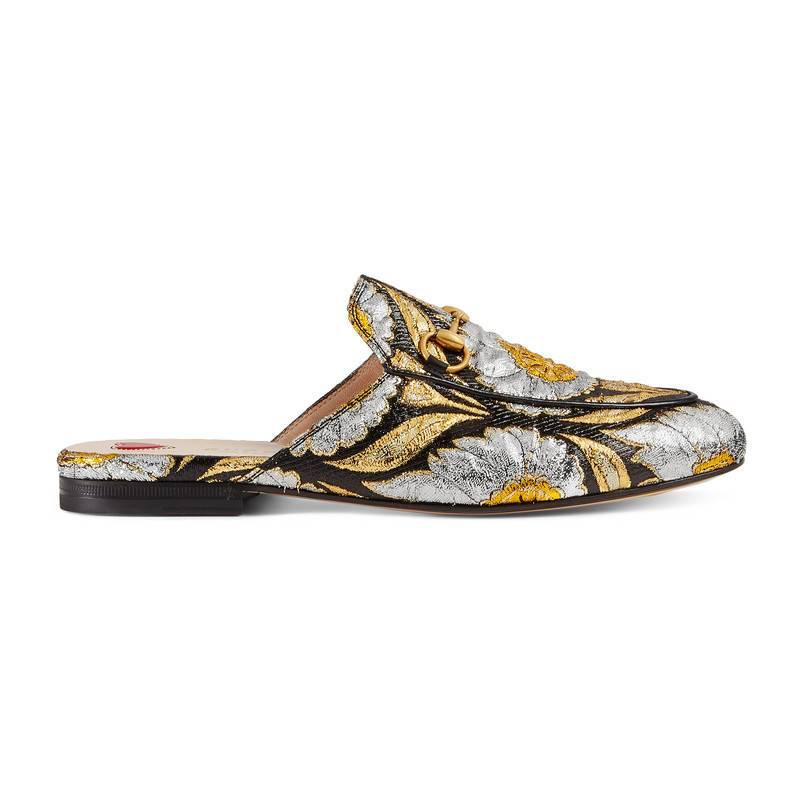 gucci princetown jacquard slippers